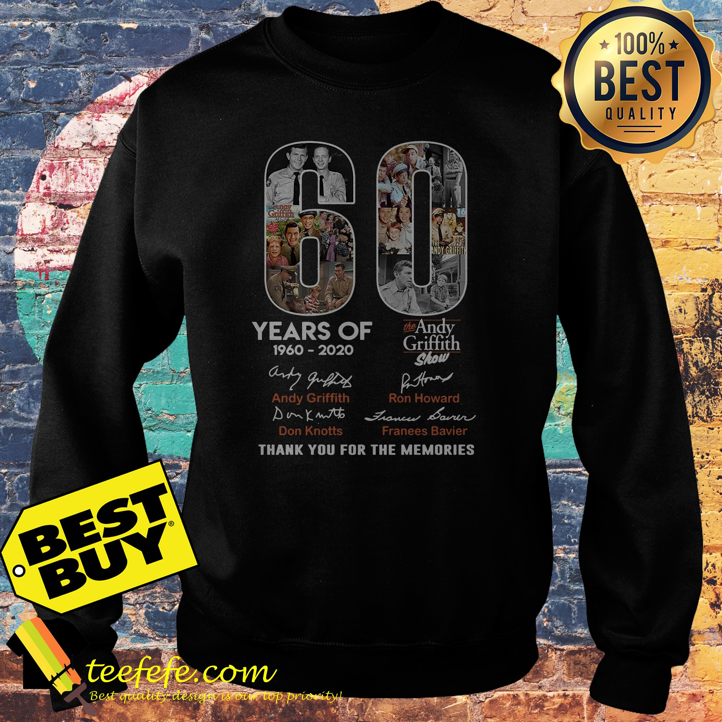 60 Years of the Andy Griffith Show 1960-2020 thank you for the memories sweatshirt