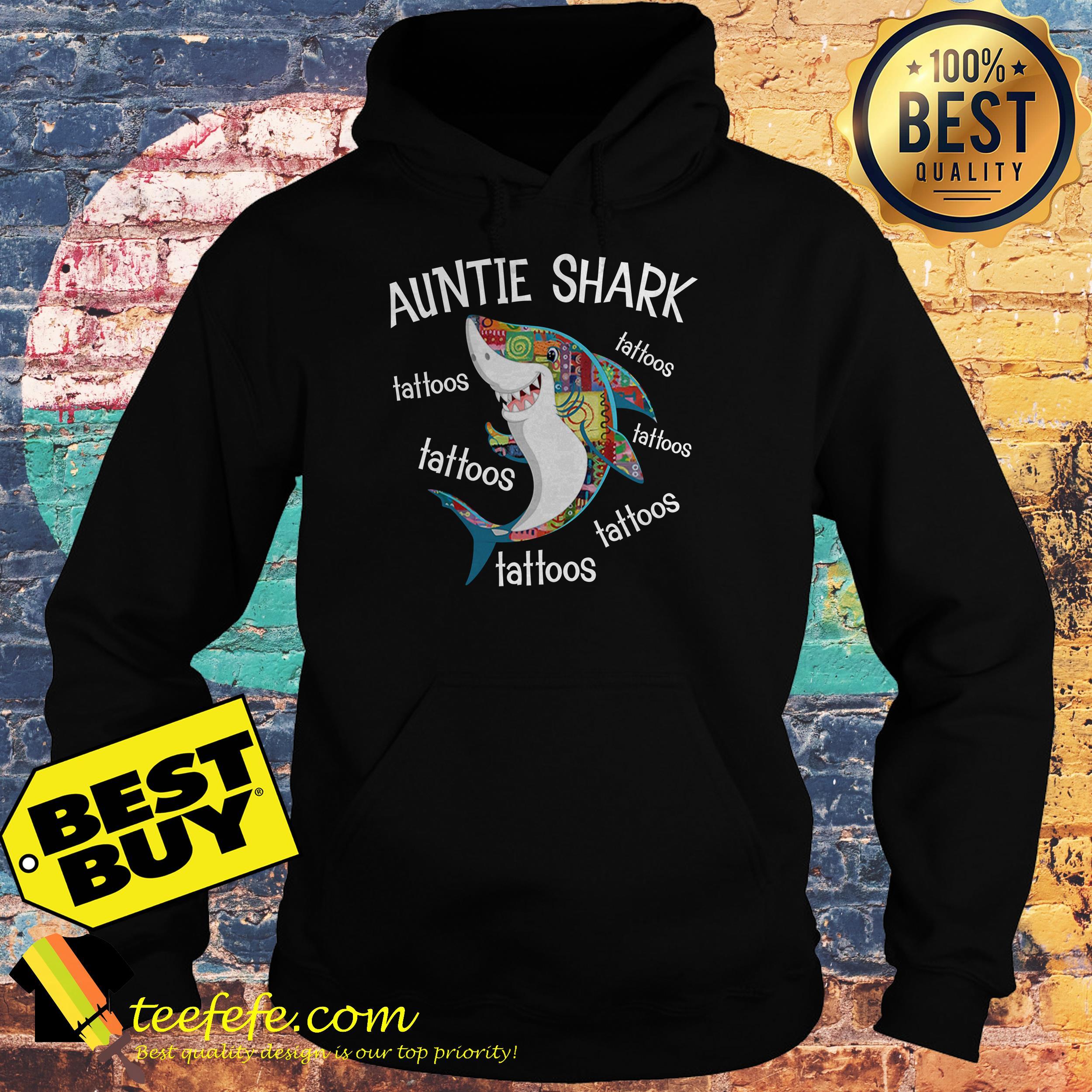 Auntie Shark Tattoos hoodie