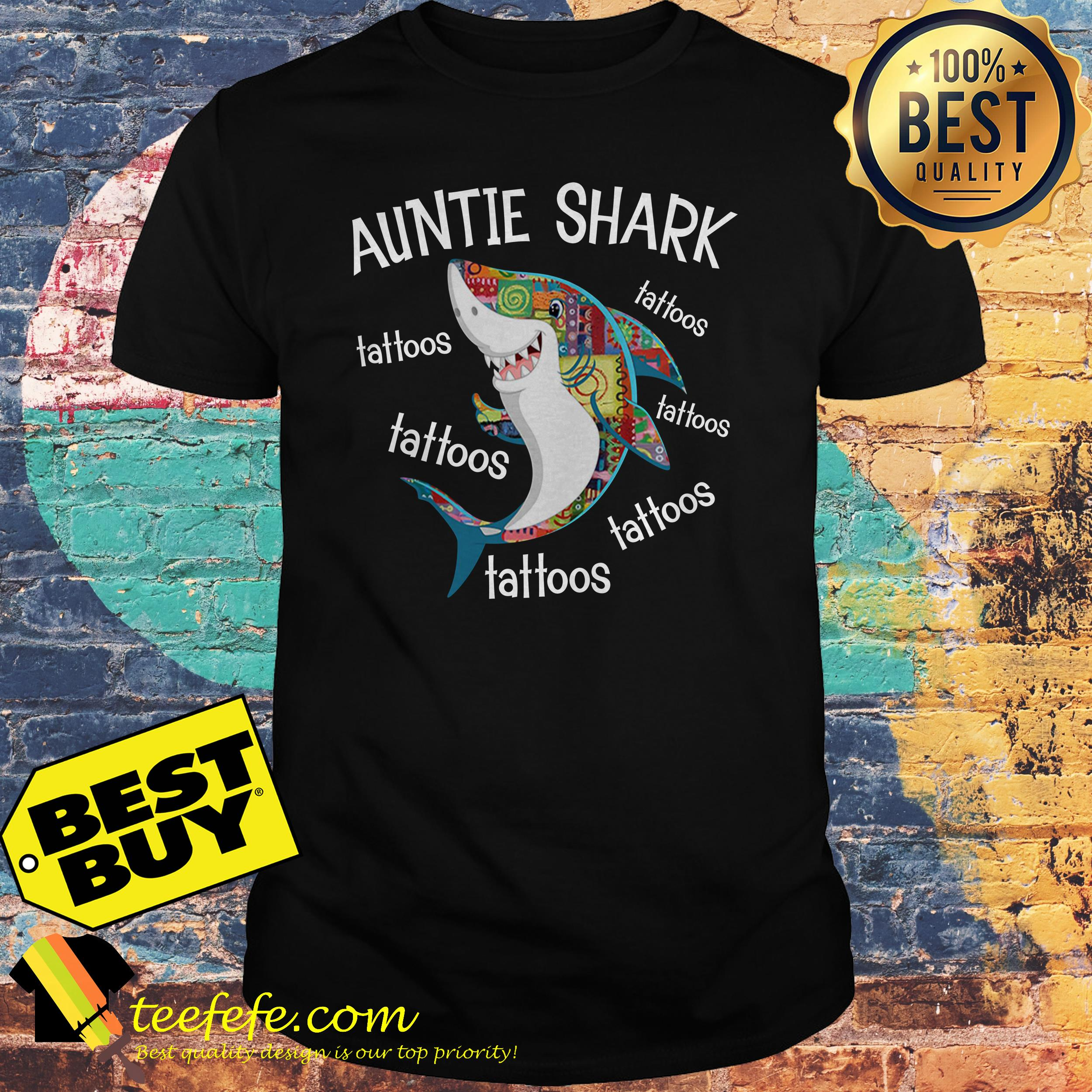 Auntie Shark Tattoos Shirt
