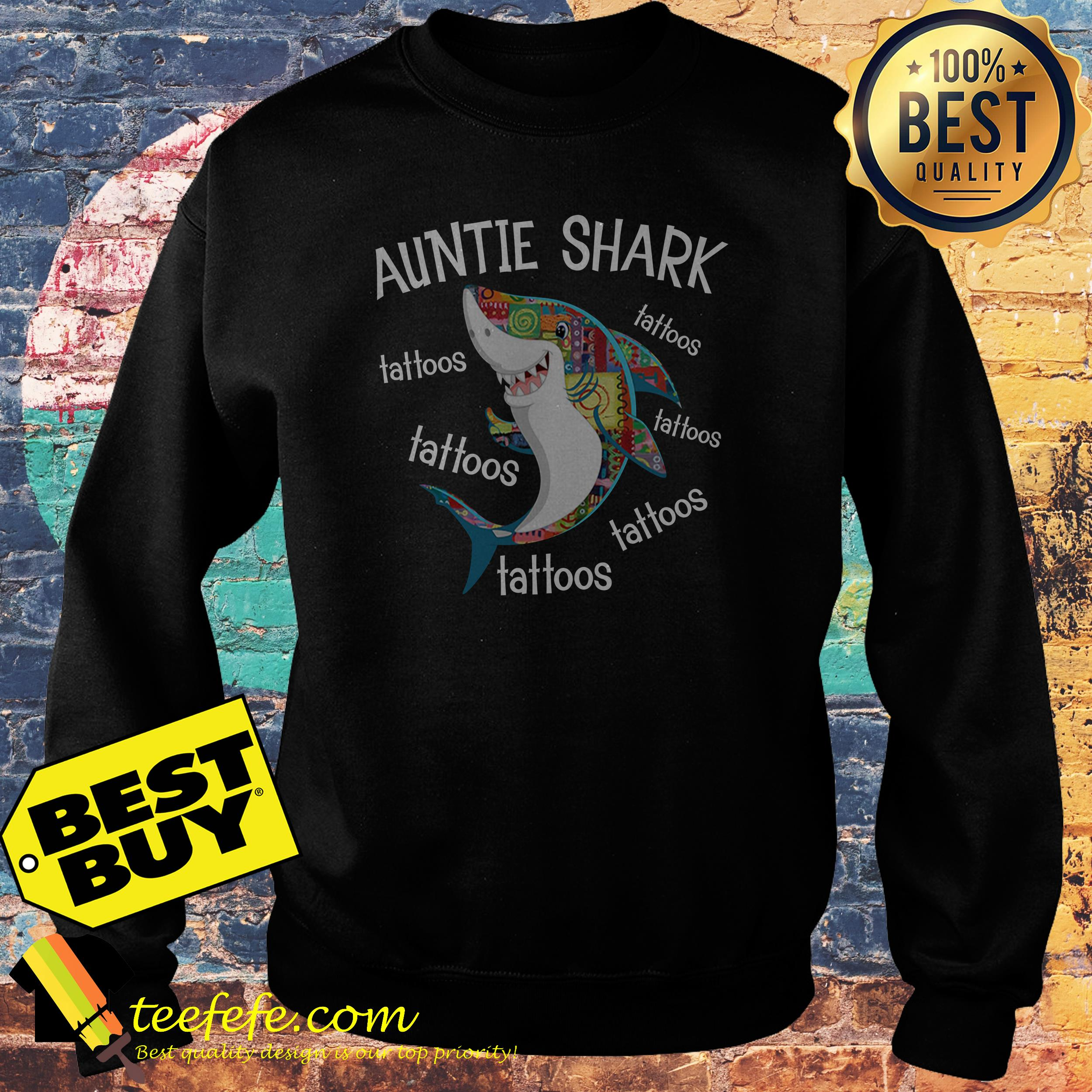 Auntie Shark Tattoos sweatshirt