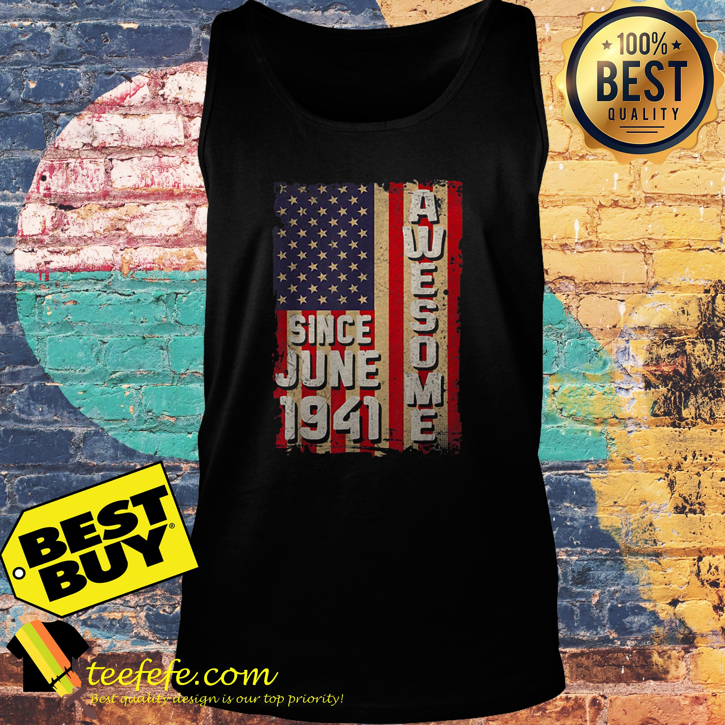 Awesome since June 1941 American flag tank top