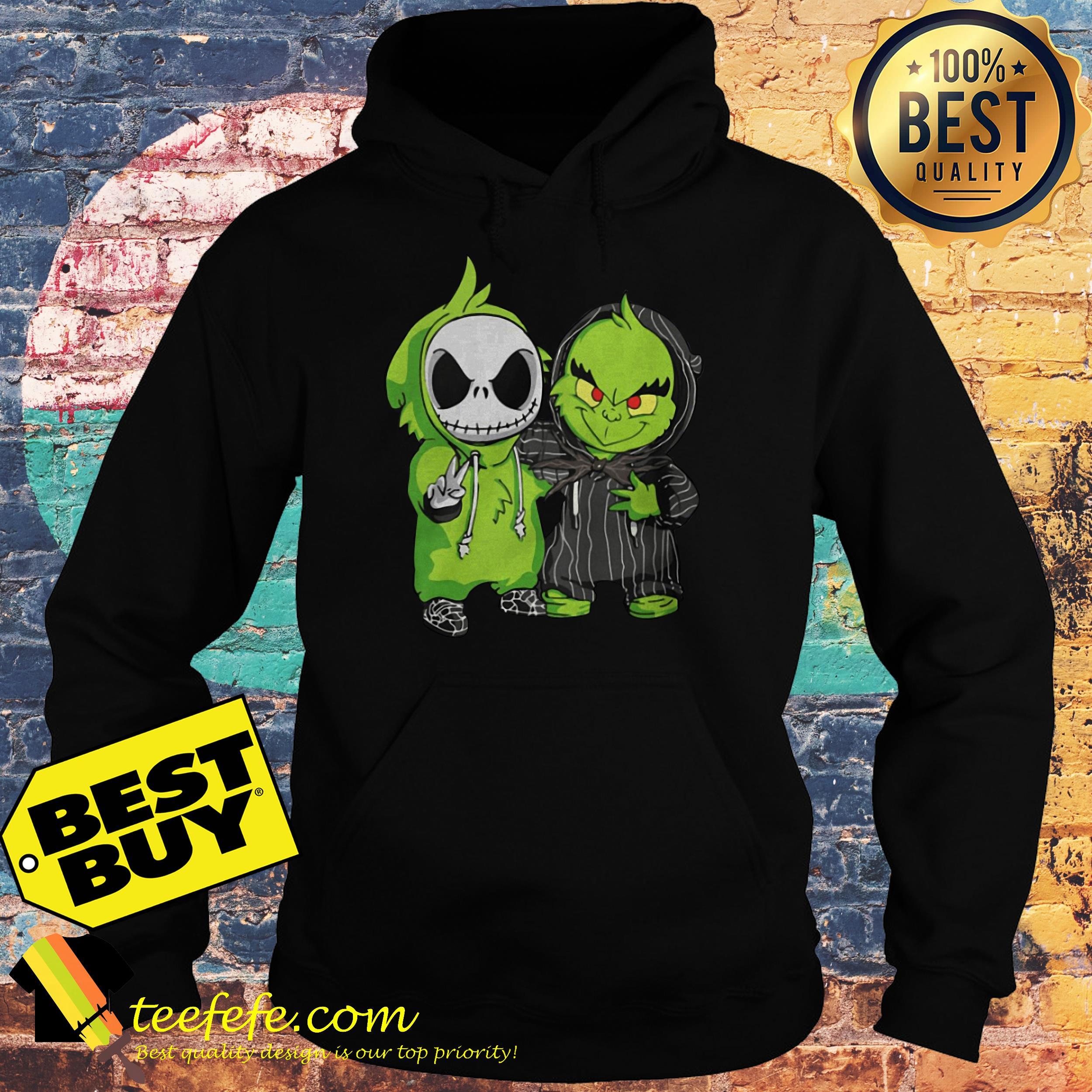 Jack Skellington and Grinch hoodie