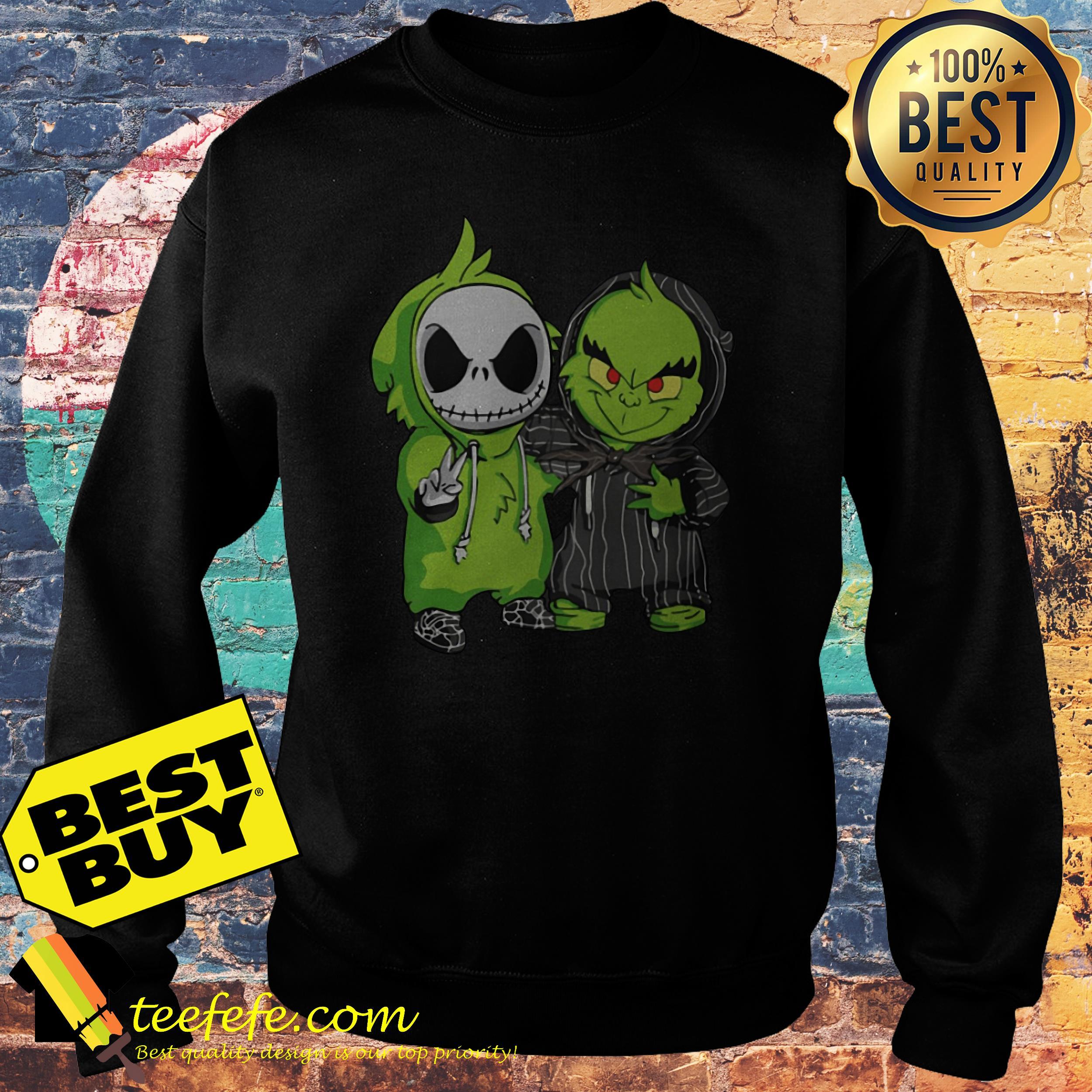 Jack Skellington and Grinch sweatshirt