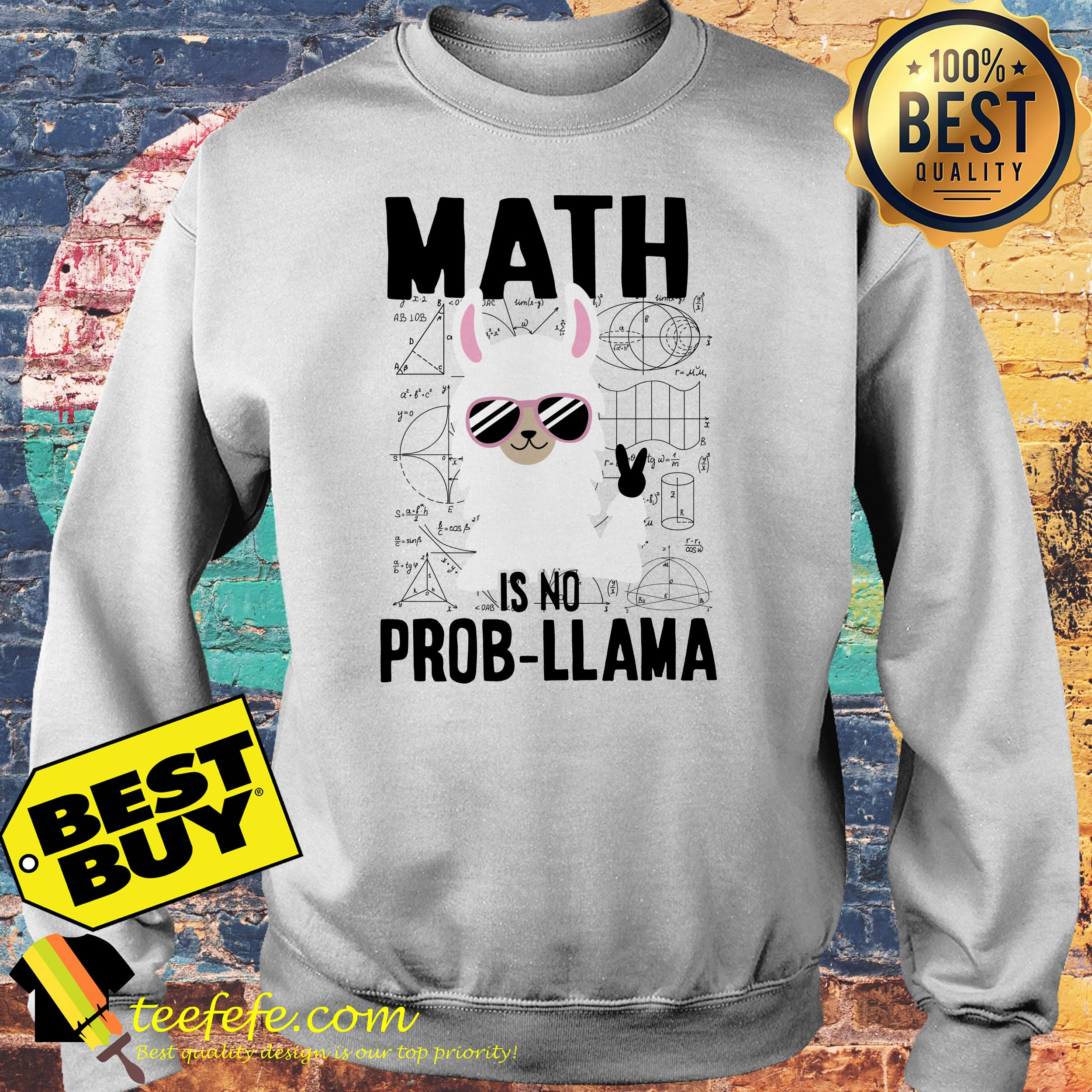 Math is no prob-llama sweatshirt