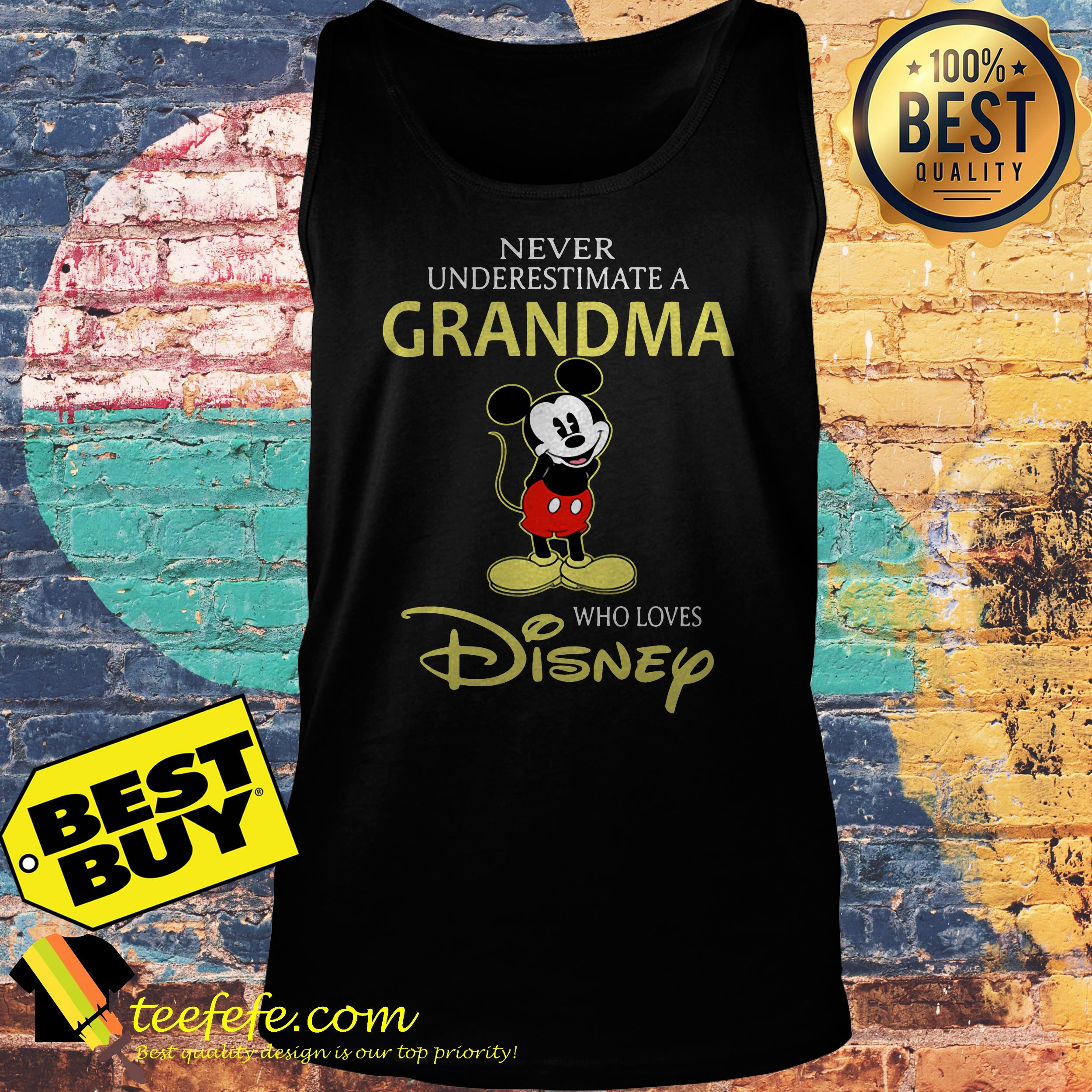 Mickey Mouse a grandma who loves Disney tank top