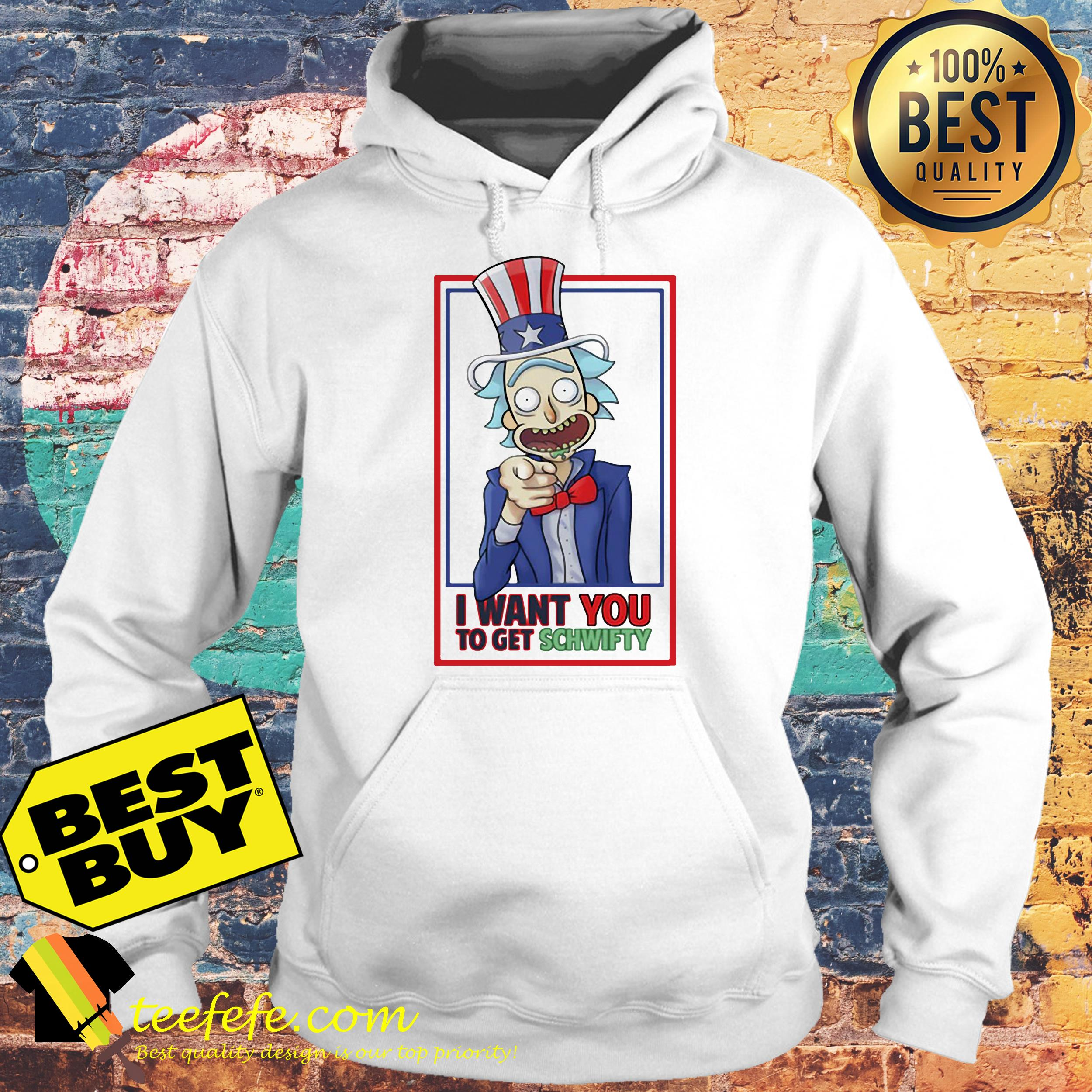 Rick Uncle I Want You To Get Schwifty hoodie