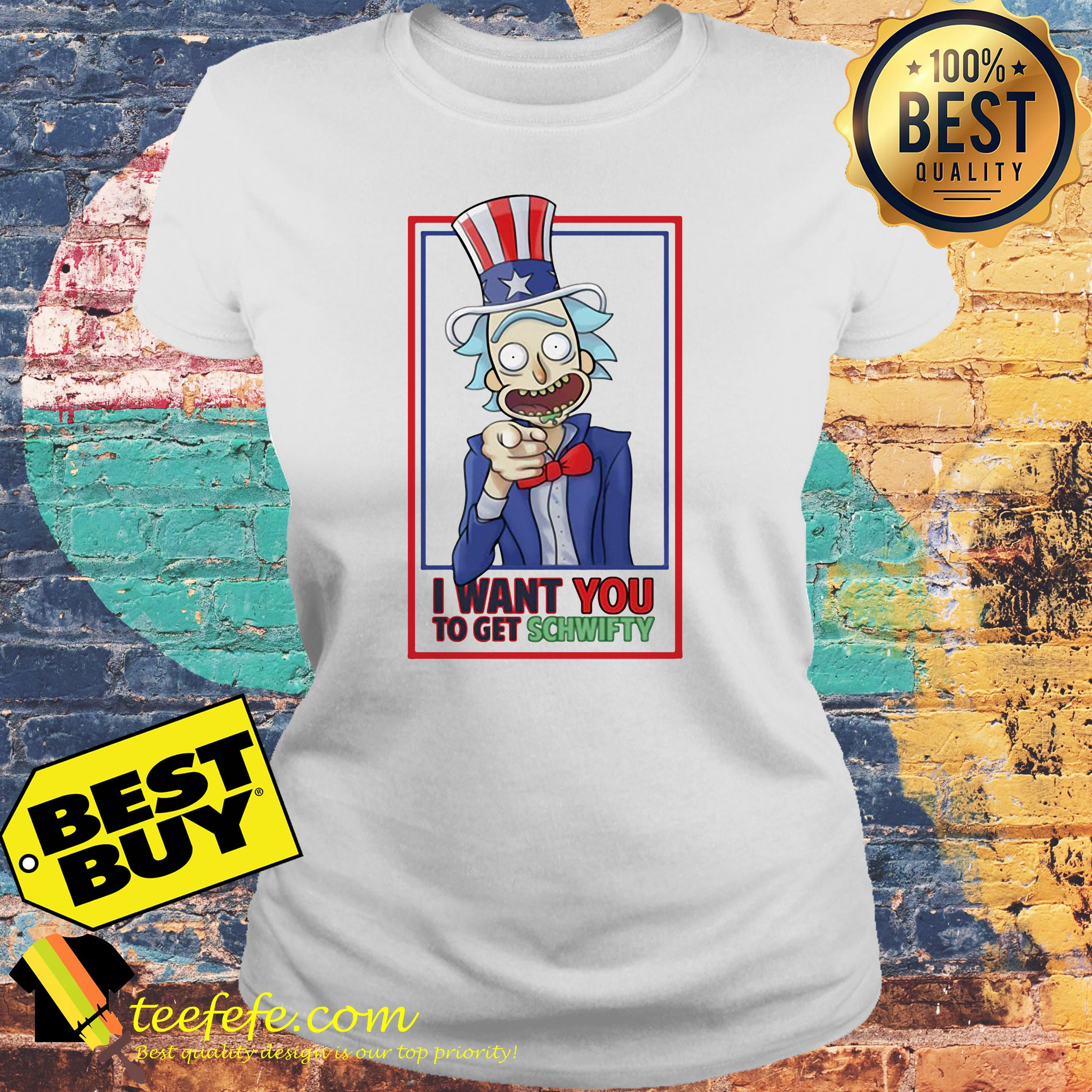 Rick Uncle I Want You To Get Schwifty ladies tee