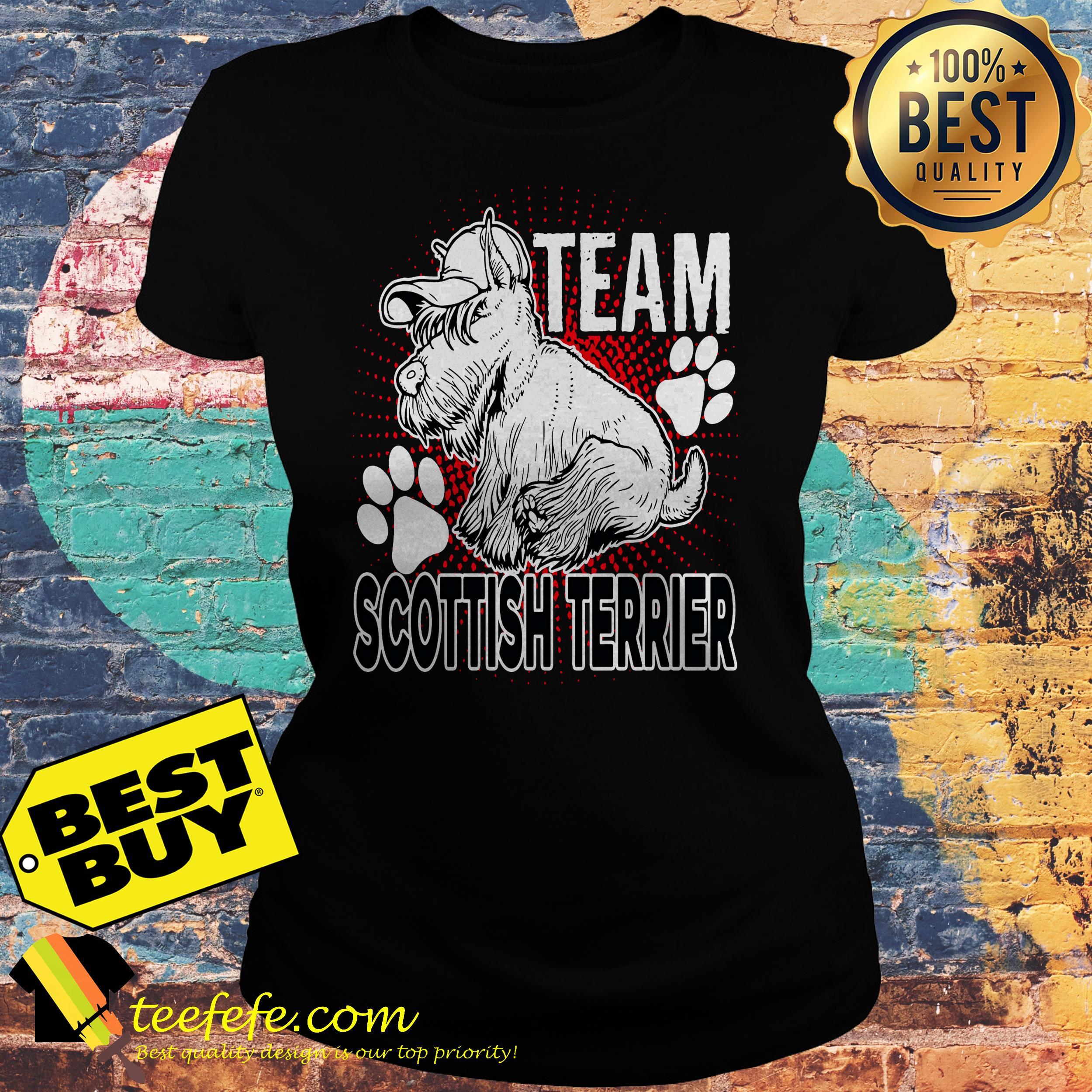 Team Scottish Terrier ladies tee