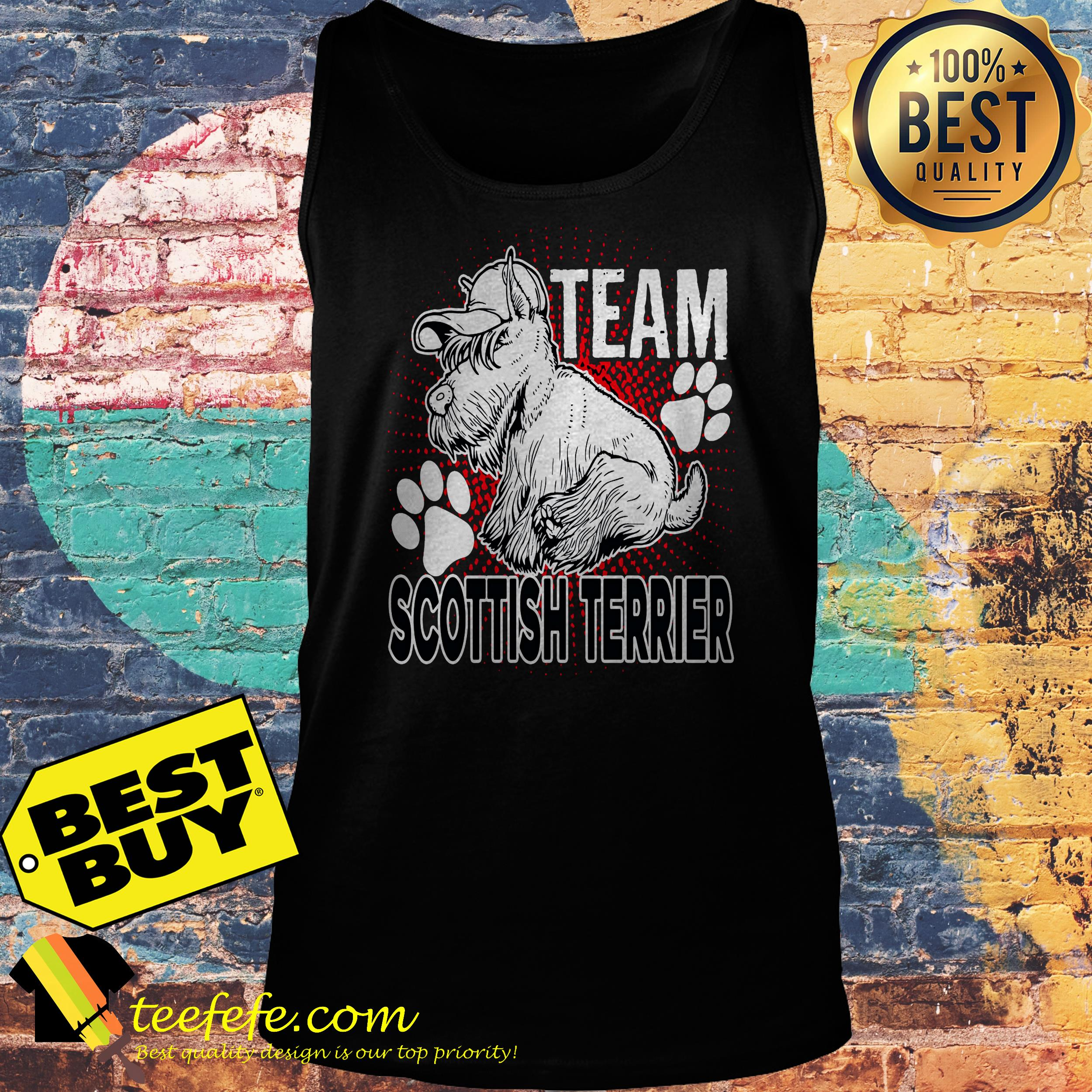 Team Scottish Terrier tank top