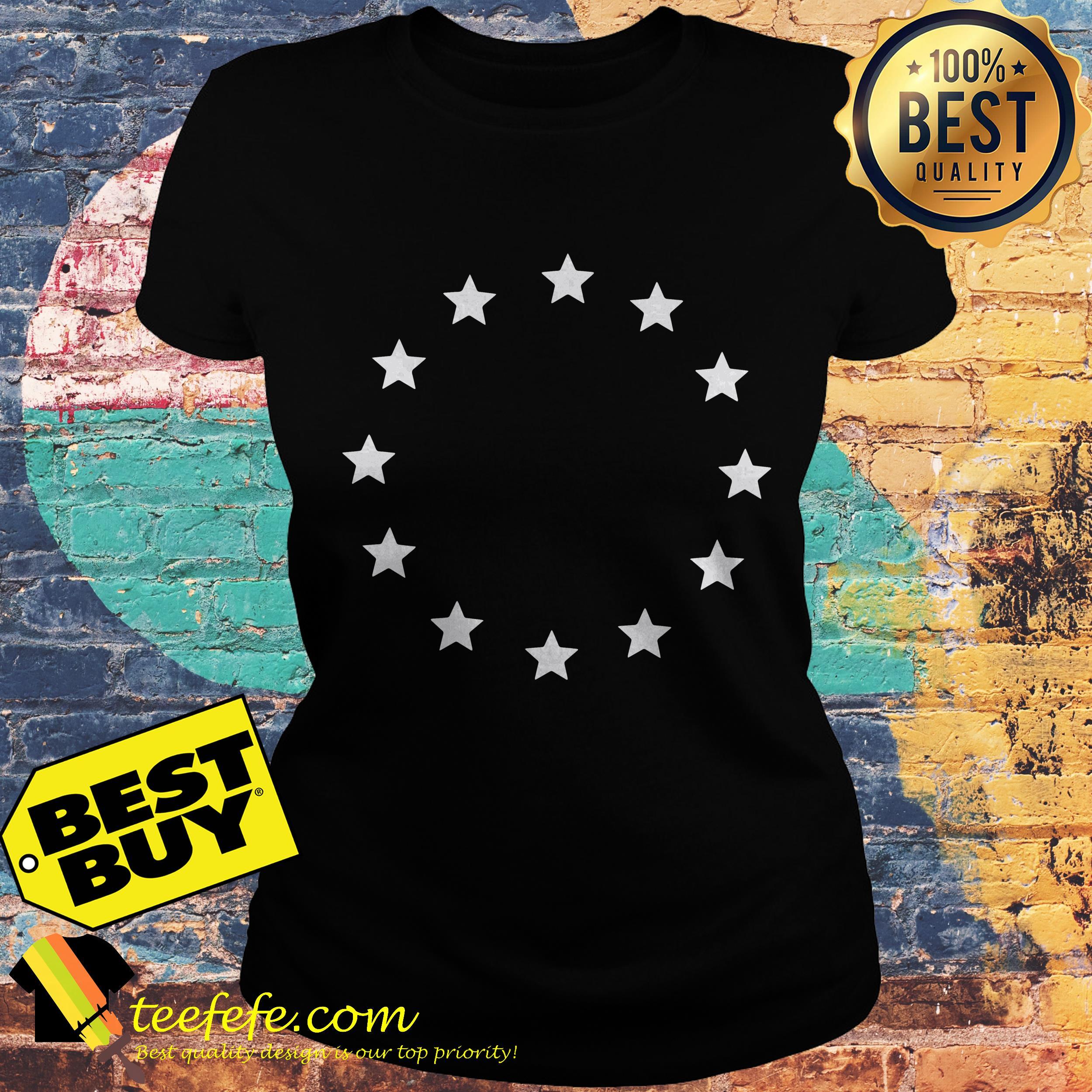 13 Colonies Star Betsy Ross Flag USA American ladies tee
