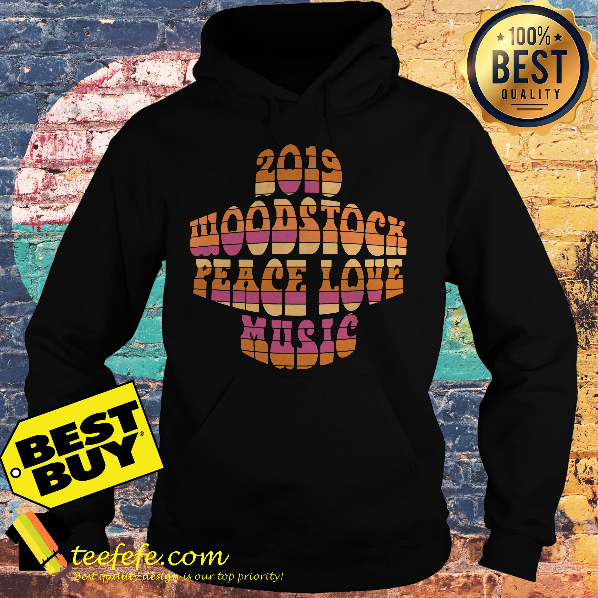 2019 Woodstock peace love music hoodie