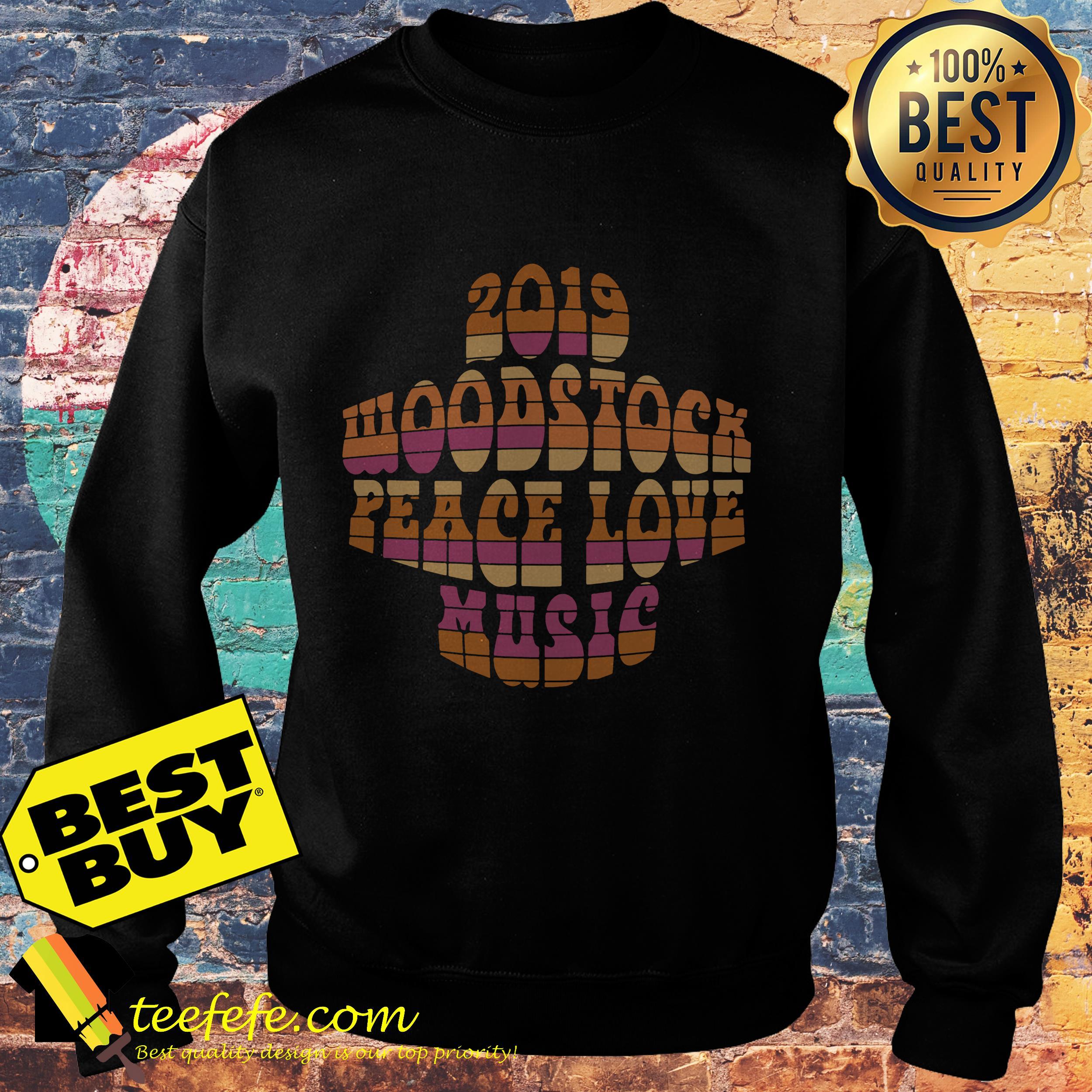 2019 Woodstock peace love music sweatshirt