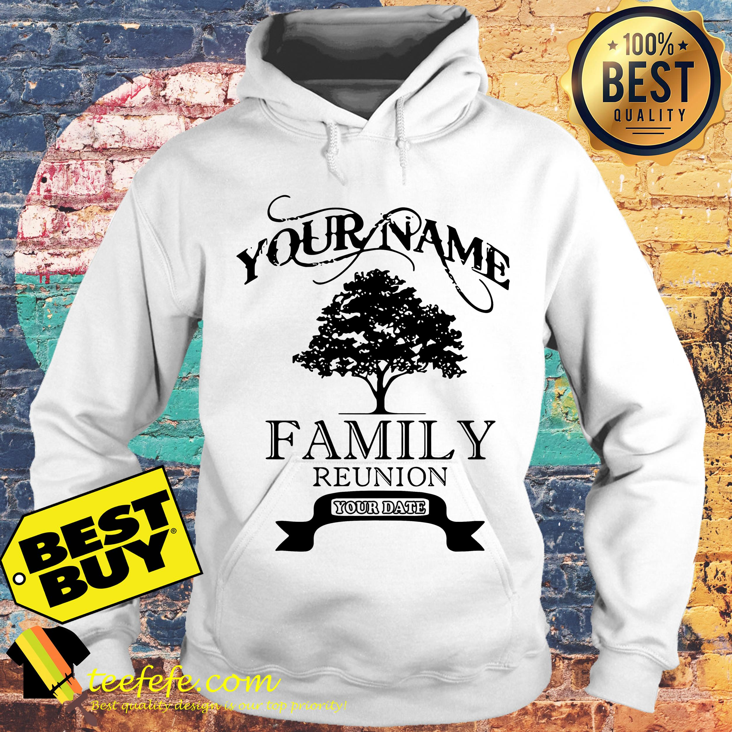 Your name family reunion old tree hoodie