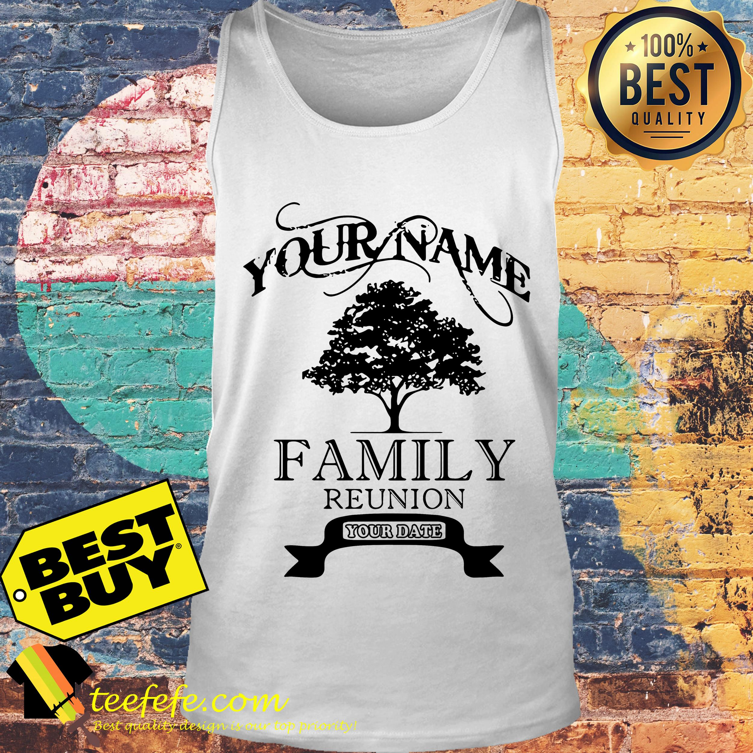 Your name family reunion old tree tank top