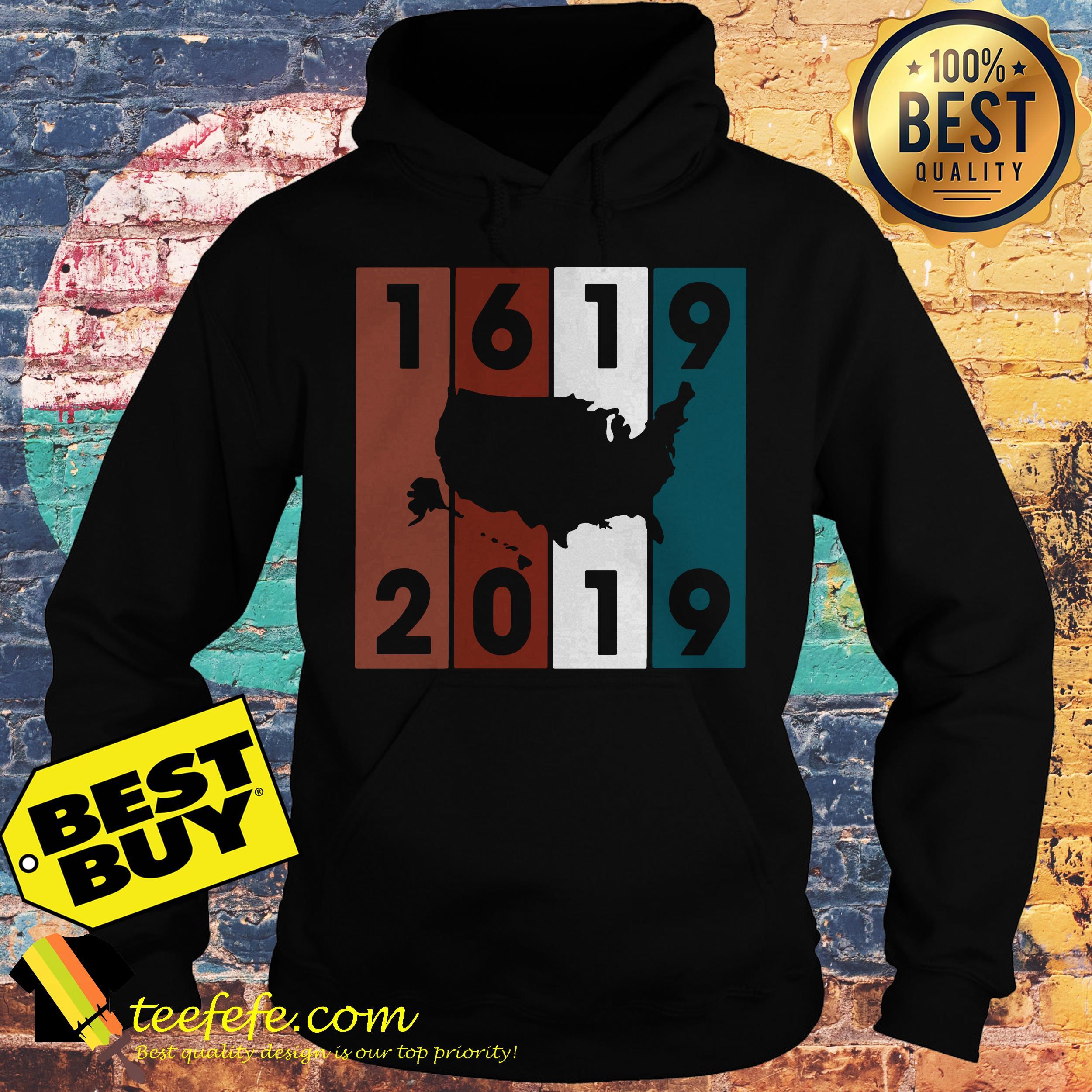 1619-2019 USA Map Crewneck hoodie