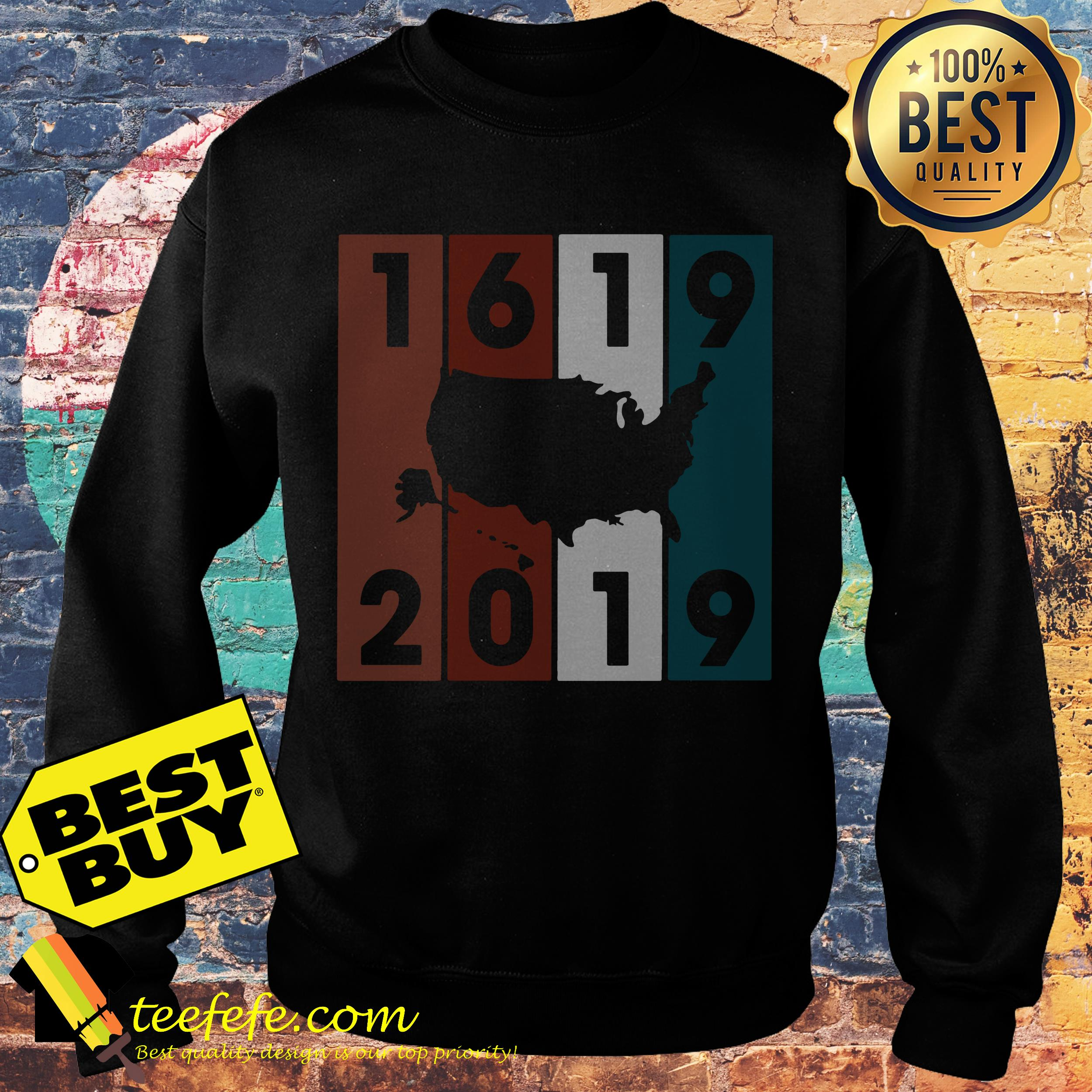 1619-2019 USA Map Crewneck sweatshirt
