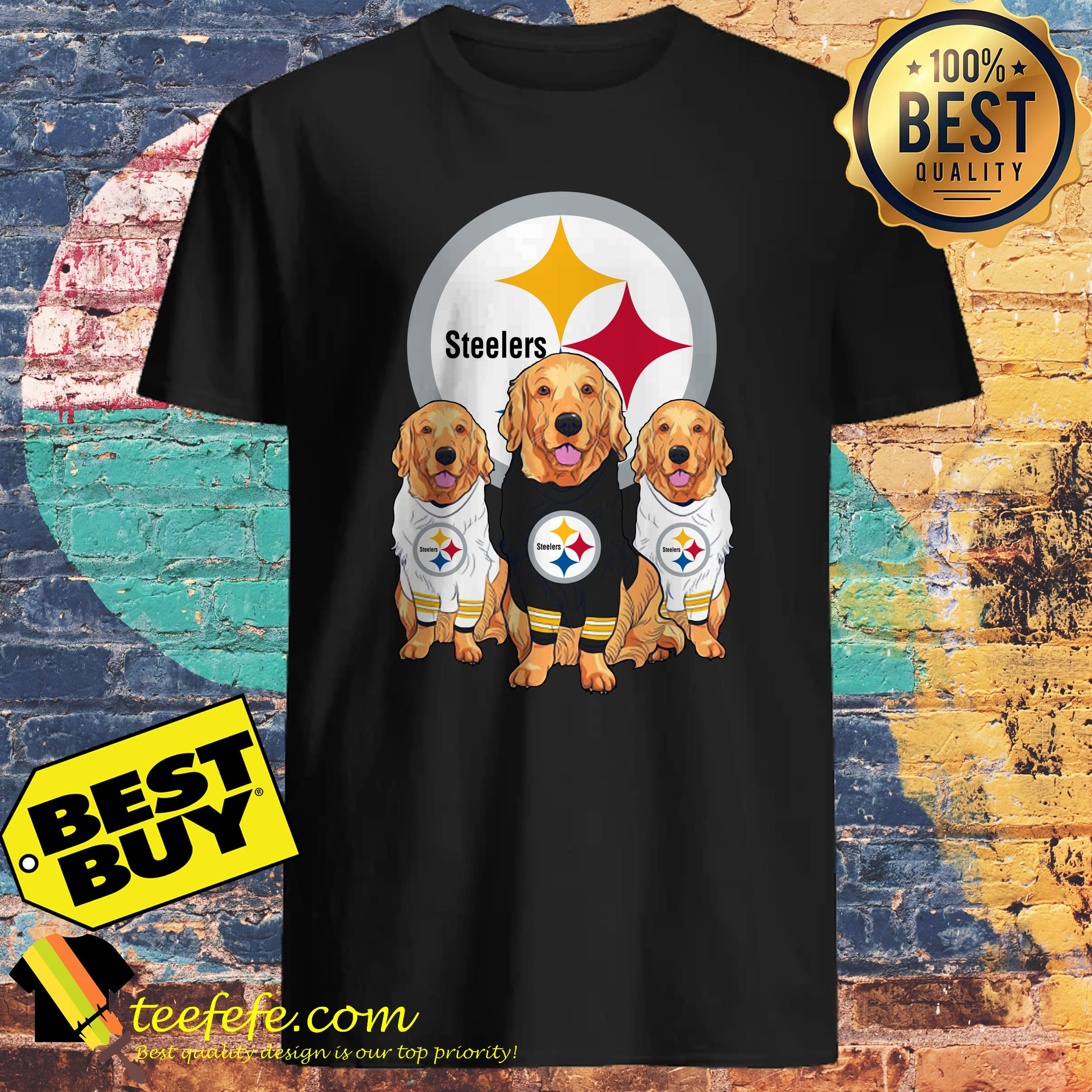 separation shoes 953c5 efe1a Pittsburgh Steelers Dog Golden Retriever shirt