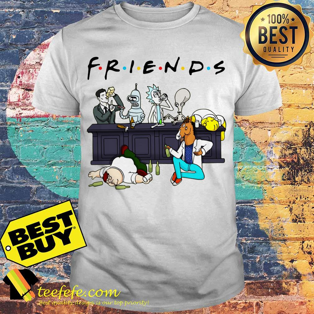 100 Pictures Cartoon Characters cartoon characters on netflix friends shirt, ladies tee