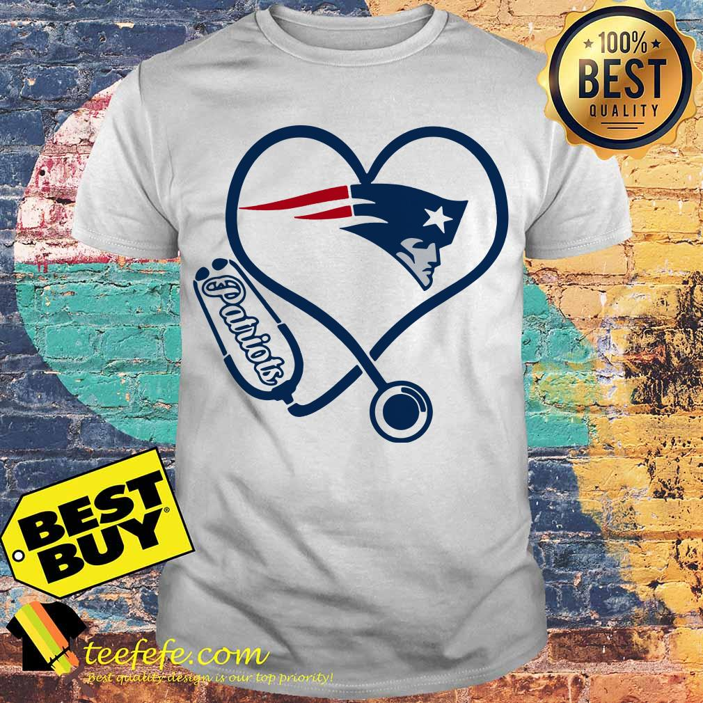 separation shoes 6e990 95ab3 Heart stethoscope Nurse New England Patriots shirt