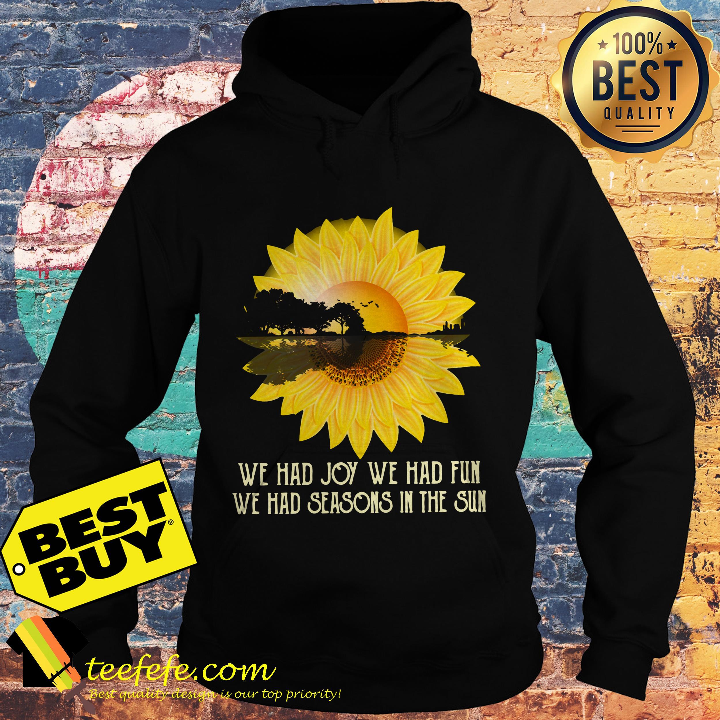 Sunflower Guitar lake shadow We had joy we had fun hoodie