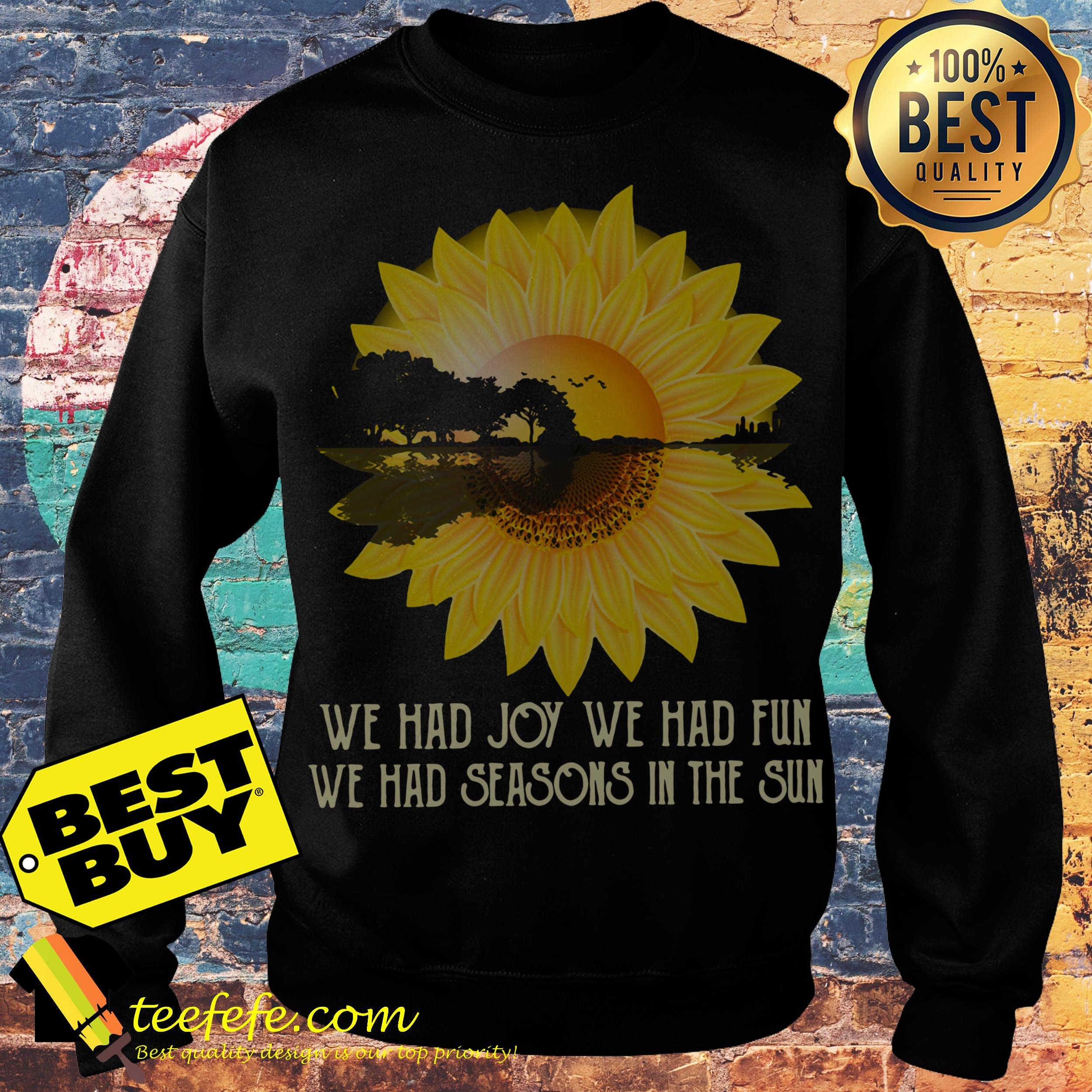 Sunflower Guitar lake shadow We had joy we had fun sweatshirt