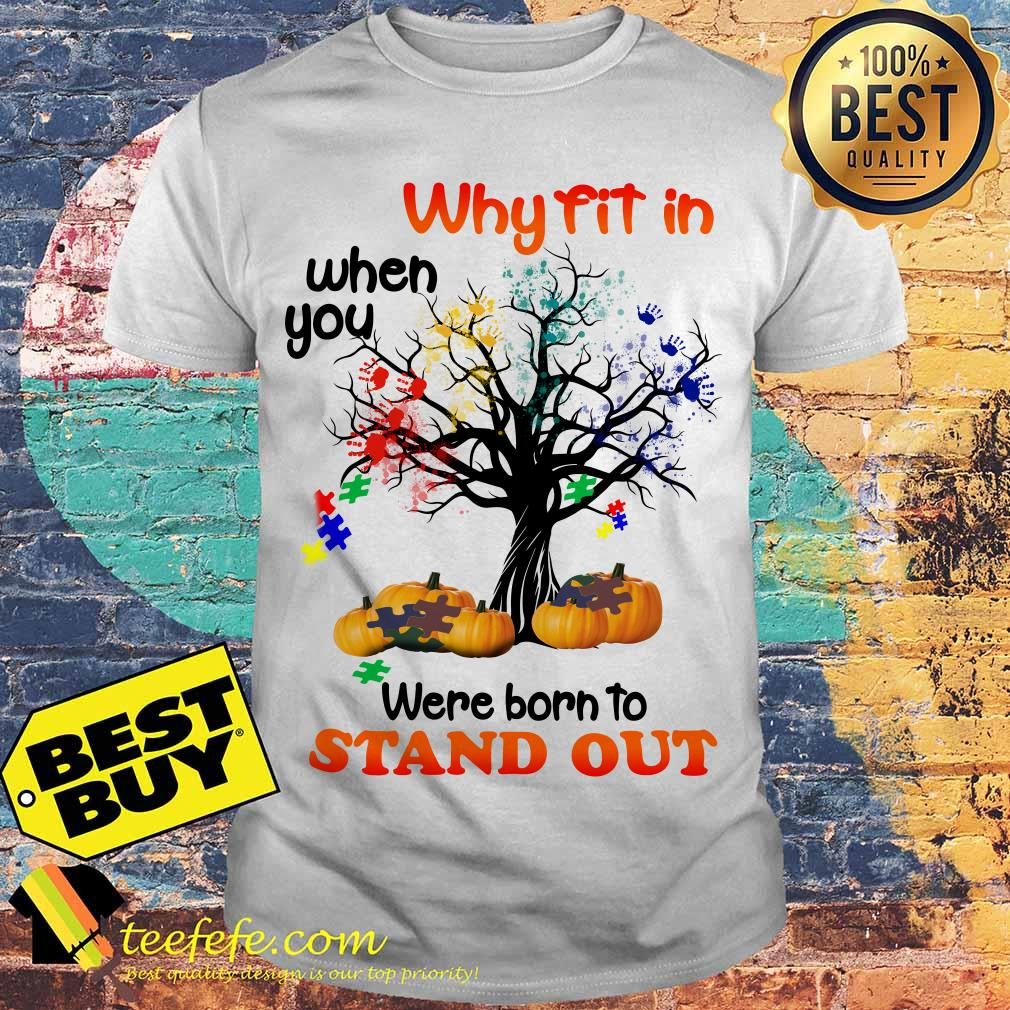 Why fit in when you were born to stand out puzzle Halloween shirt