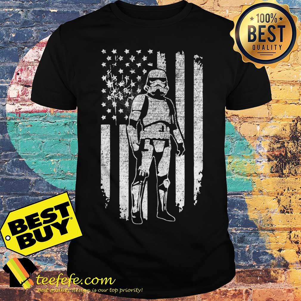 Stormtrooper Star Wars flag veteran shirt
