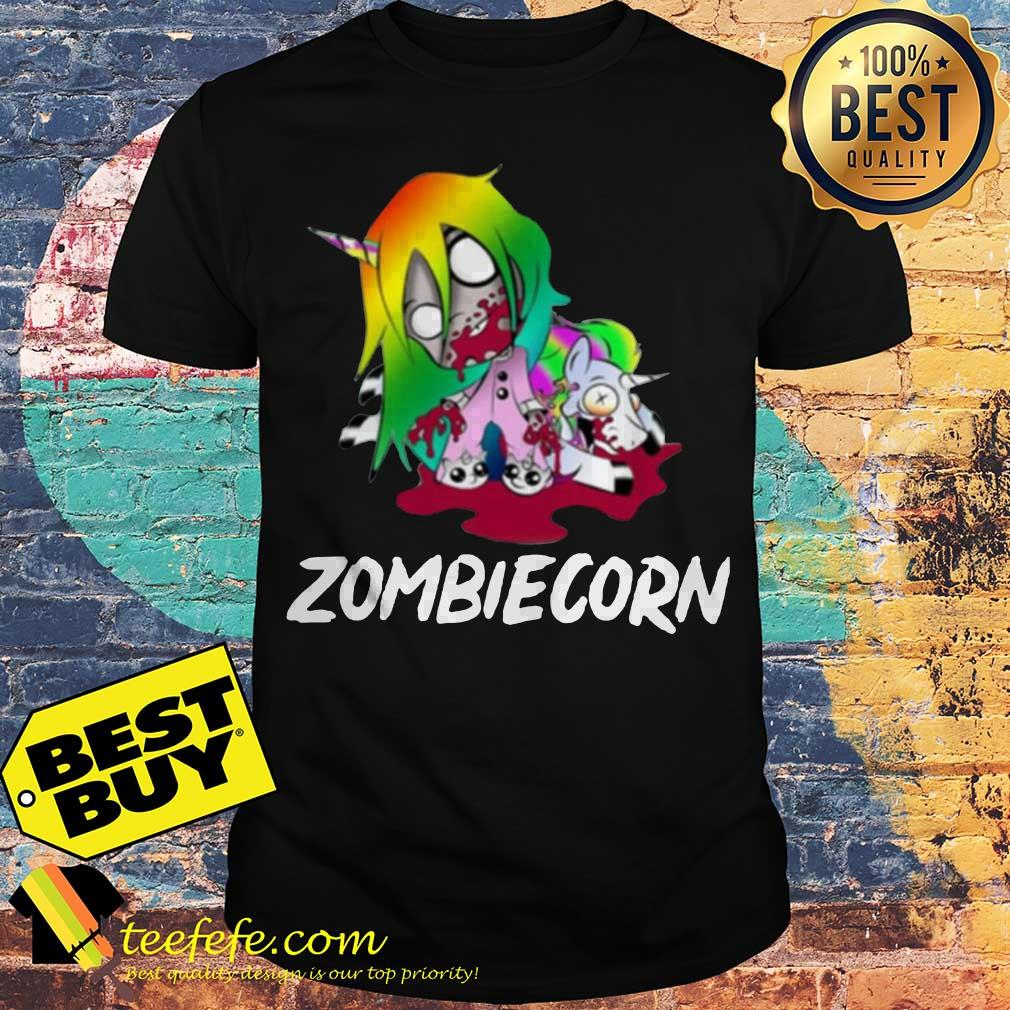 Zombiecorn creepy zombie Unicorn Halloween shirt