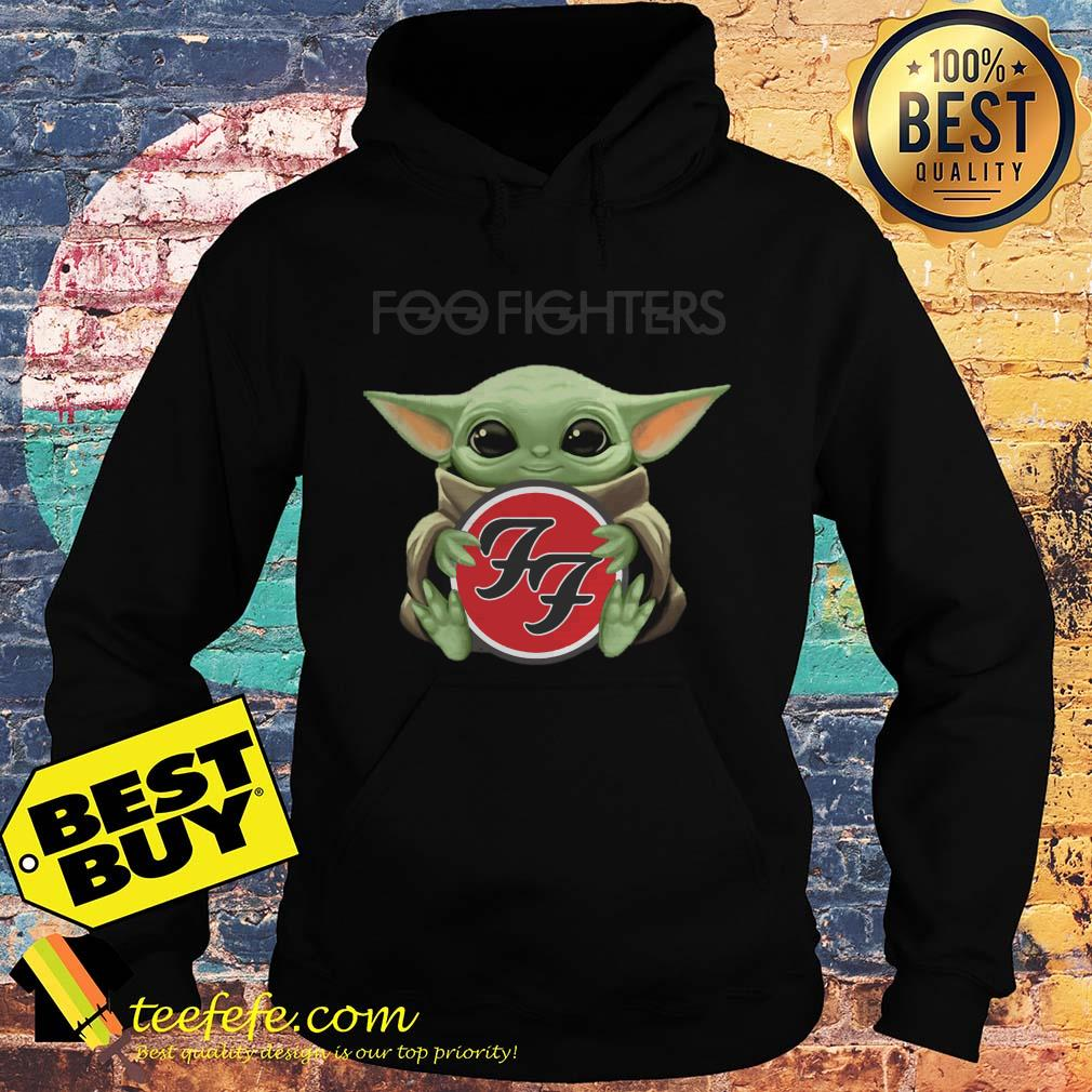 Baby Yoda hug Foo Fighters hoodie