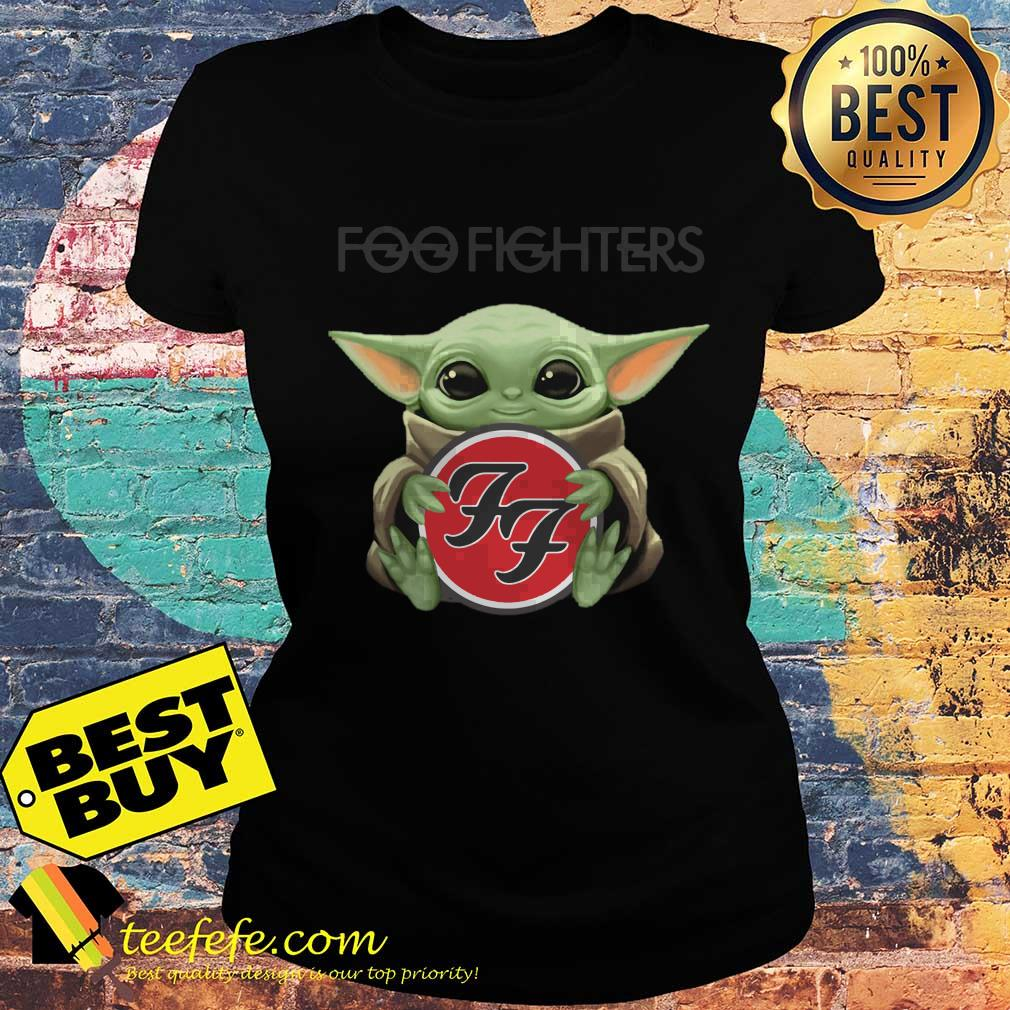 Baby Yoda hug Foo Fighters ladies tee