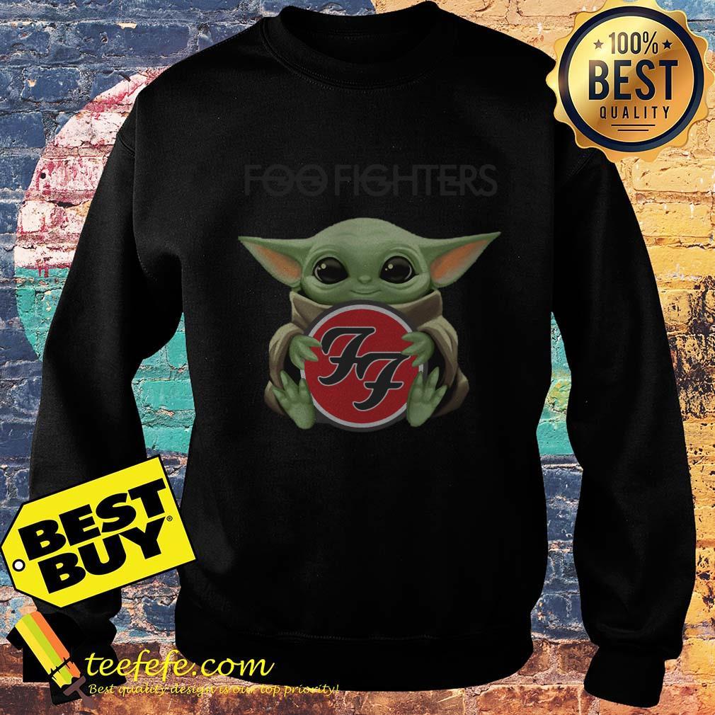 Baby Yoda hug Foo Fighters sweatshirt