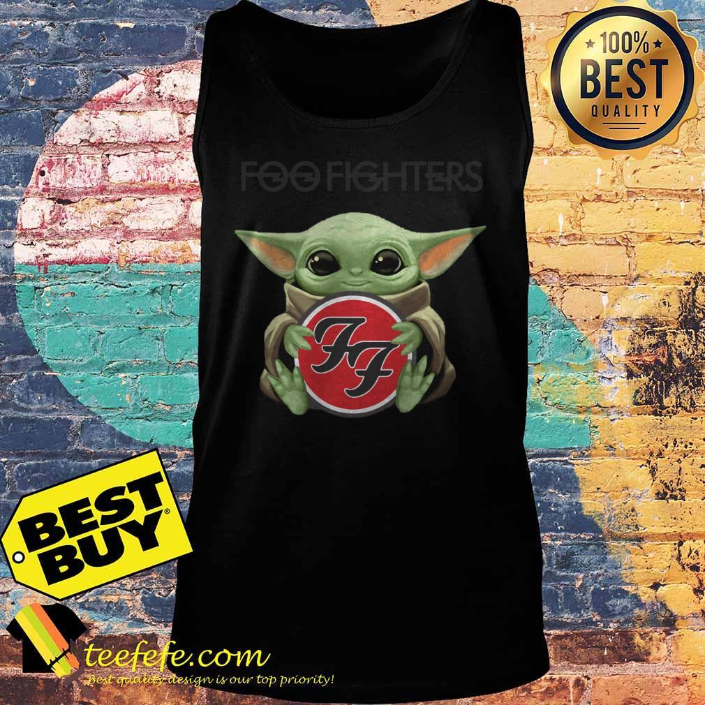 Baby Yoda hug Foo Fighters tank top