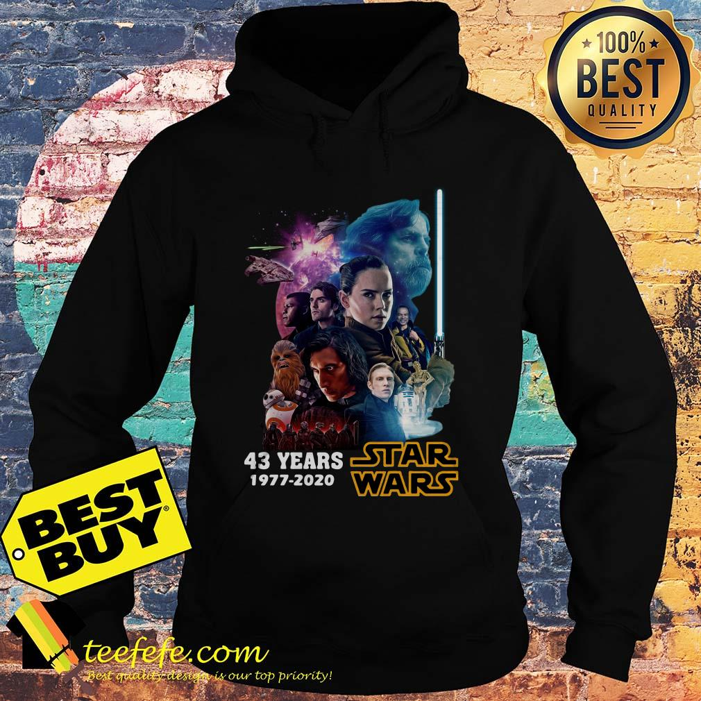 Star Wars Characters 43 Years 1977 2020 Signatures hoodie