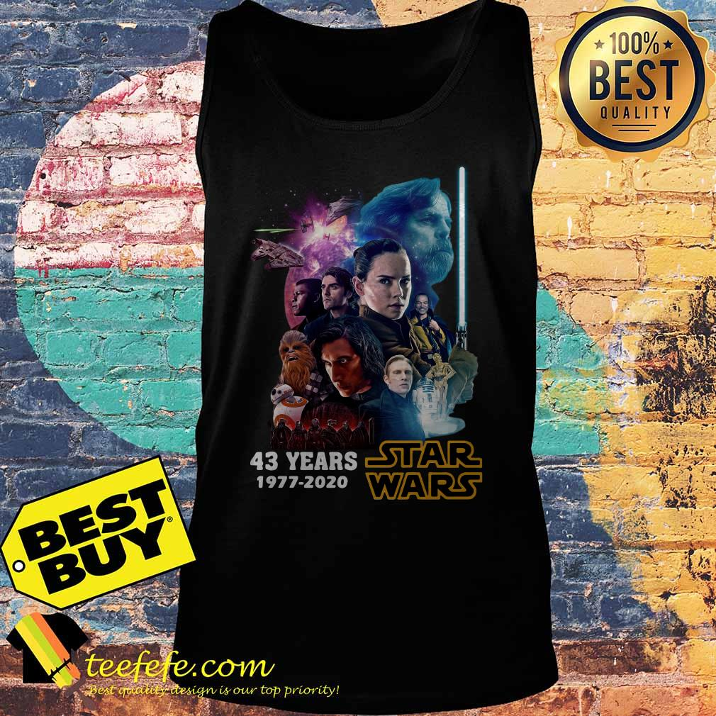 Star Wars Characters 43 Years 1977 2020 Signatures tank top
