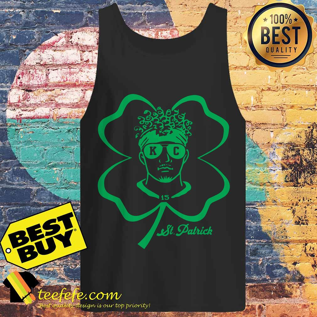 Happy St. Patrick's Day 15 Patrick Mahomes Kansas City Chiefs tank top
