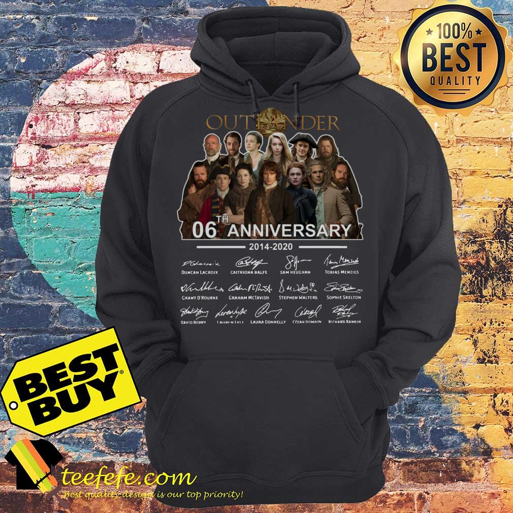 Outlander 06th Anniversary 2014 2020 Signatures hoodie