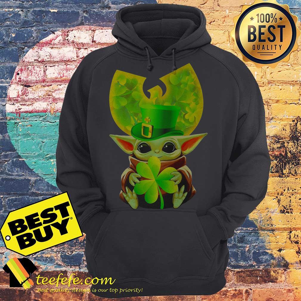Star Wars Baby Yoda Hug Irish St. Patrick's Day Wu-Tang Logo hoodie