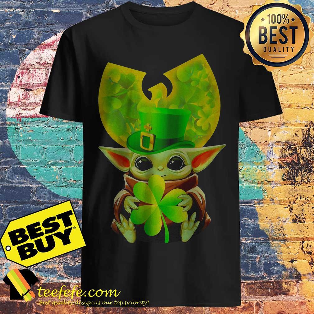 Star Wars Baby Yoda Hug Irish St. Patrick's Day Wu-Tang Logo shirt