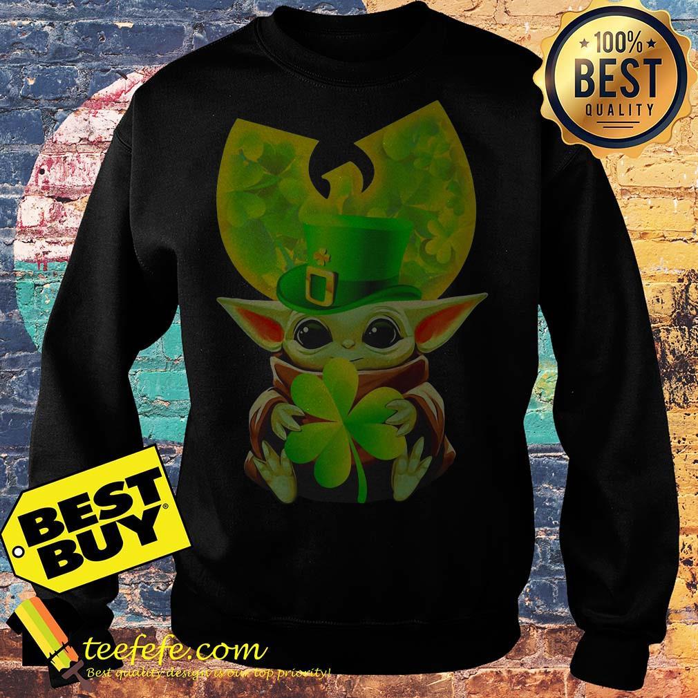 Star Wars Baby Yoda Hug Irish St. Patrick's Day Wu-Tang Logo sweatshirt