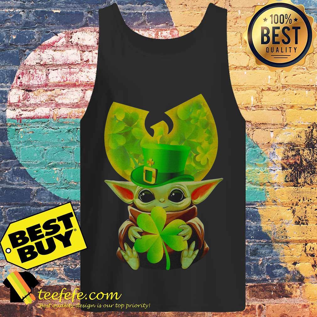 Star Wars Baby Yoda Hug Irish St. Patrick's Day Wu-Tang Logo tank top