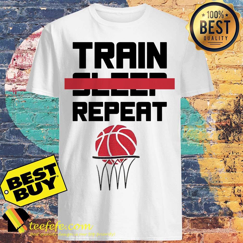 Train sleep repeat basketball shirt