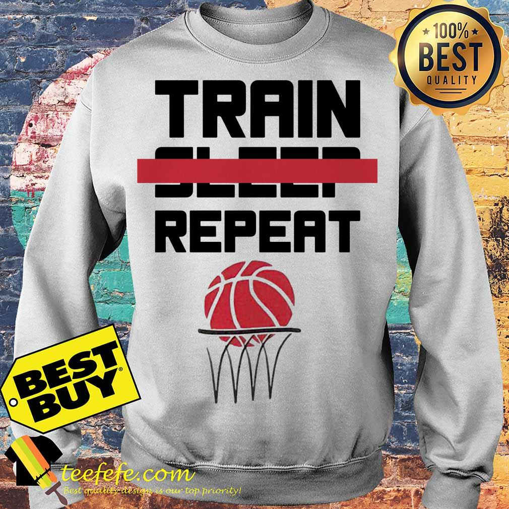 Train sleep repeat basketball sweater