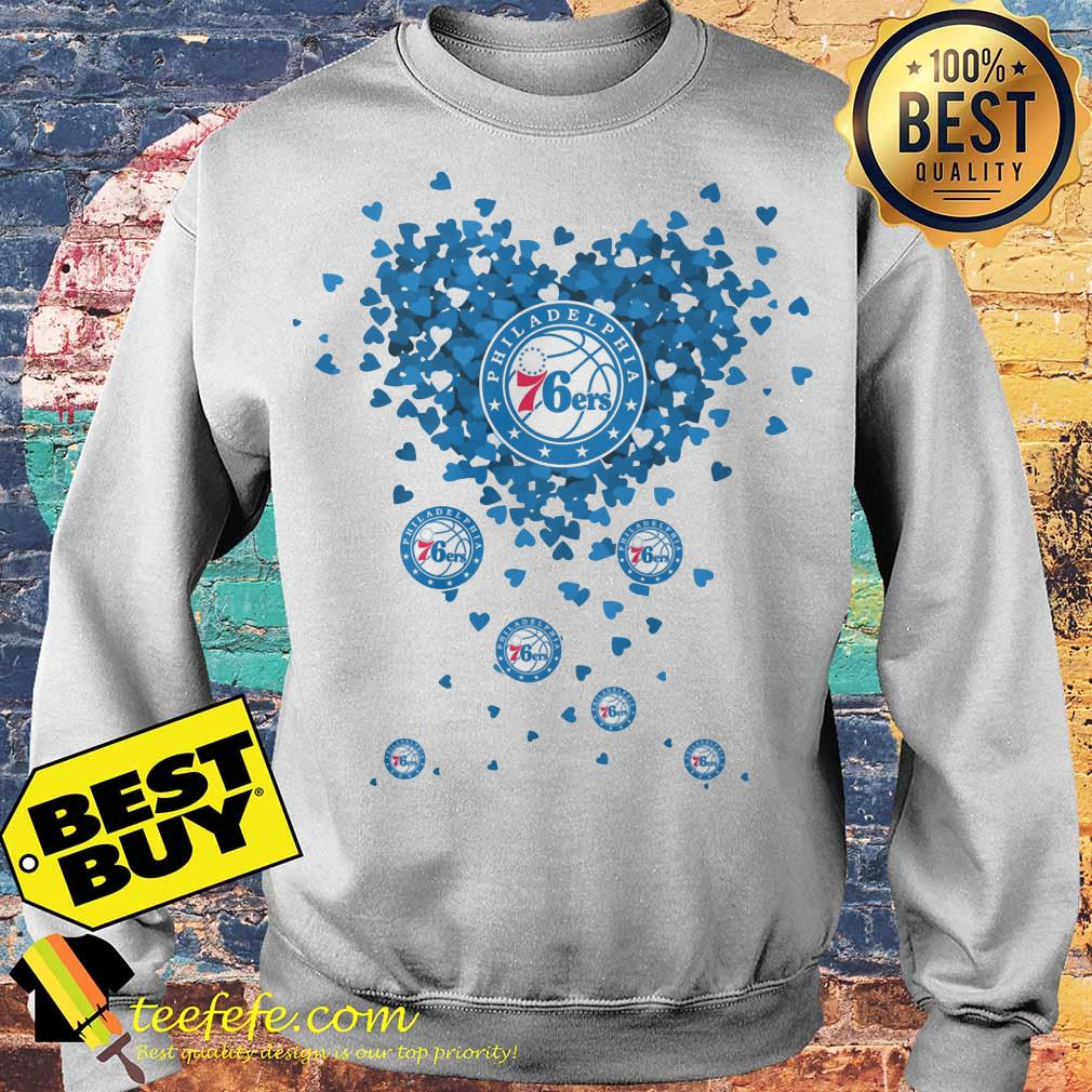Valentine's Day NBA Philadelphia 76ers Basketball Logo Heart sweatshirt