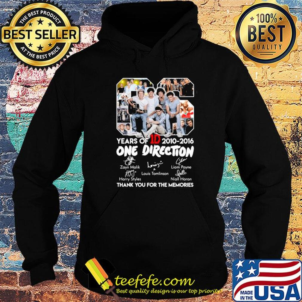 06 years of 1d 2010-2016 one direction signatures thank you for the memories s Hoodie