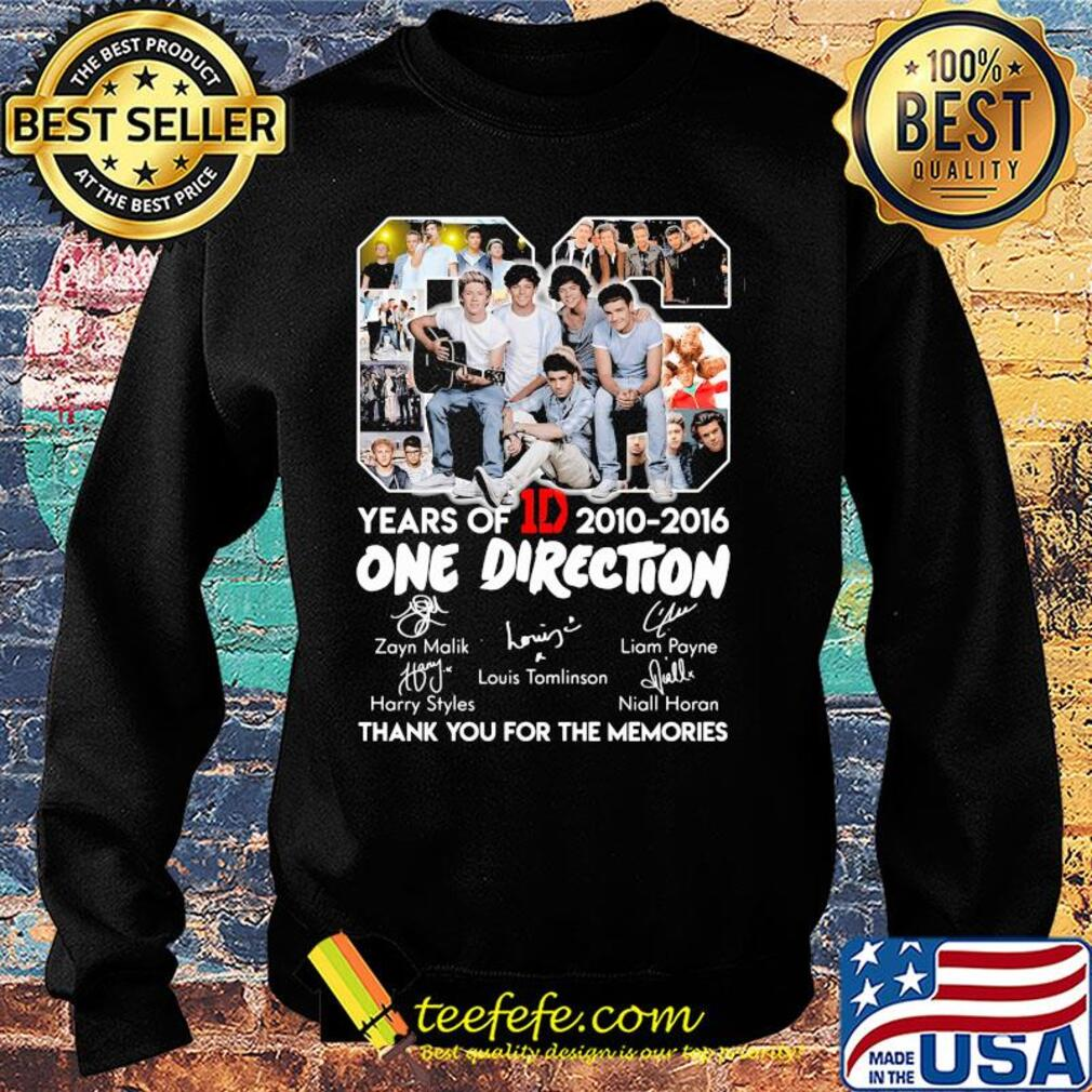 06 years of 1d 2010-2016 one direction signatures thank you for the memories s Sweater