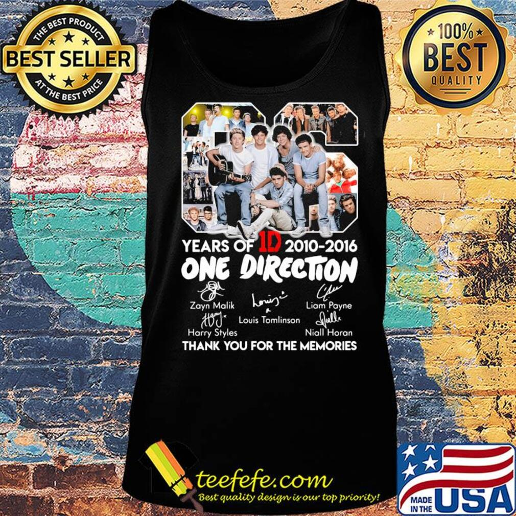 06 years of 1d 2010-2016 one direction signatures thank you for the memories s Tank top