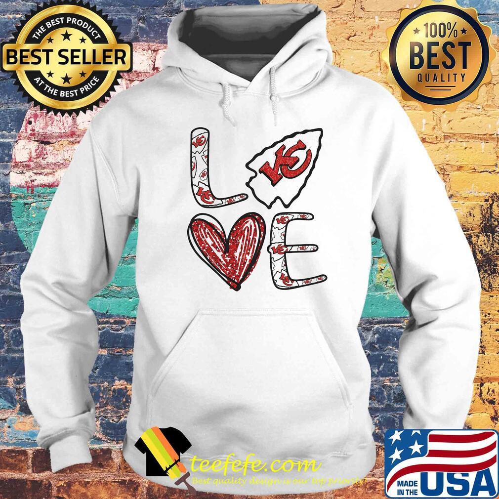 Love Kansas City Chiefs Football Logo Heart s Hoodie