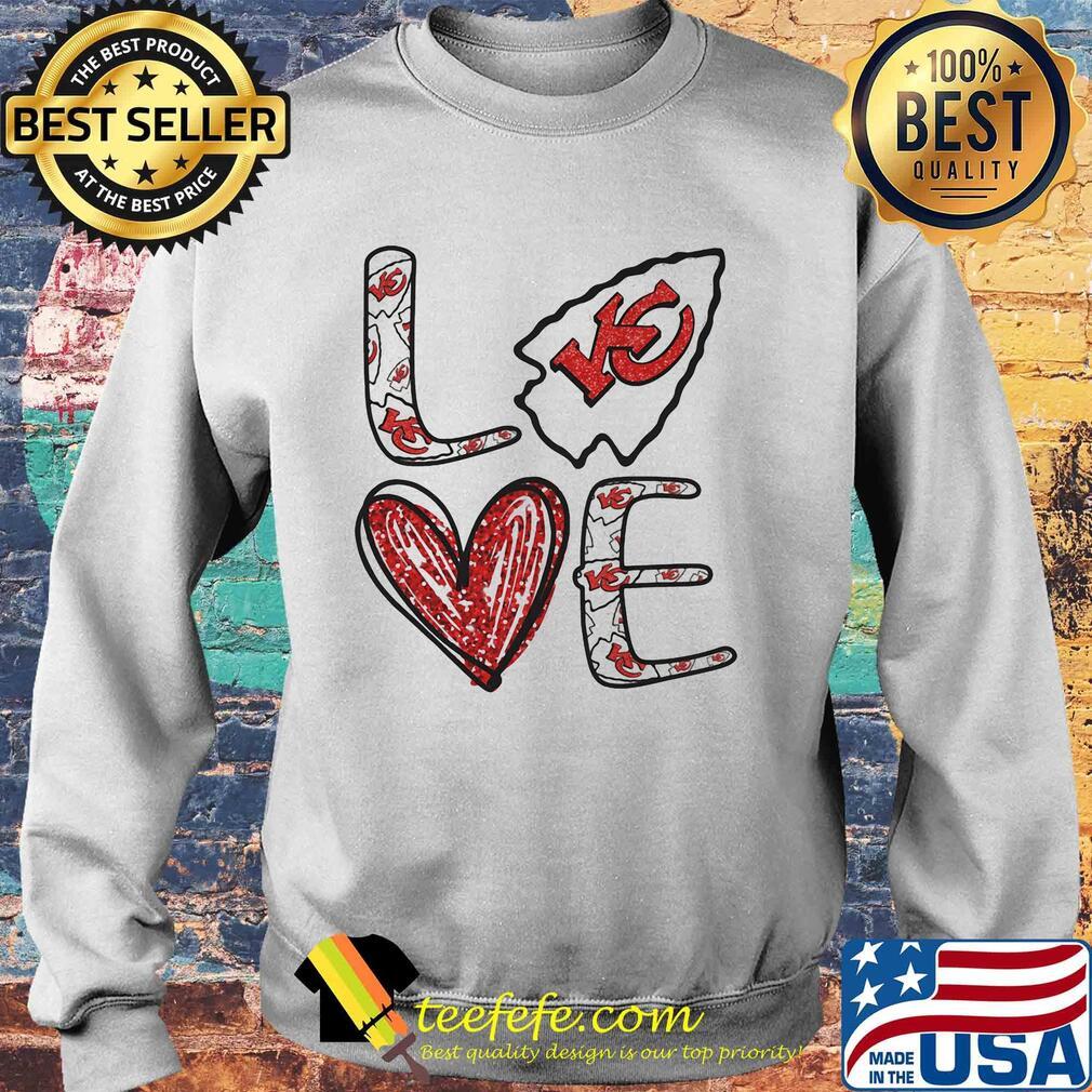Love Kansas City Chiefs Football Logo Heart s Sweater