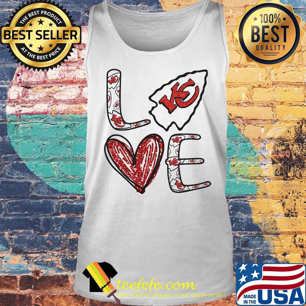 Love Kansas City Chiefs Football Logo Heart s Tank top