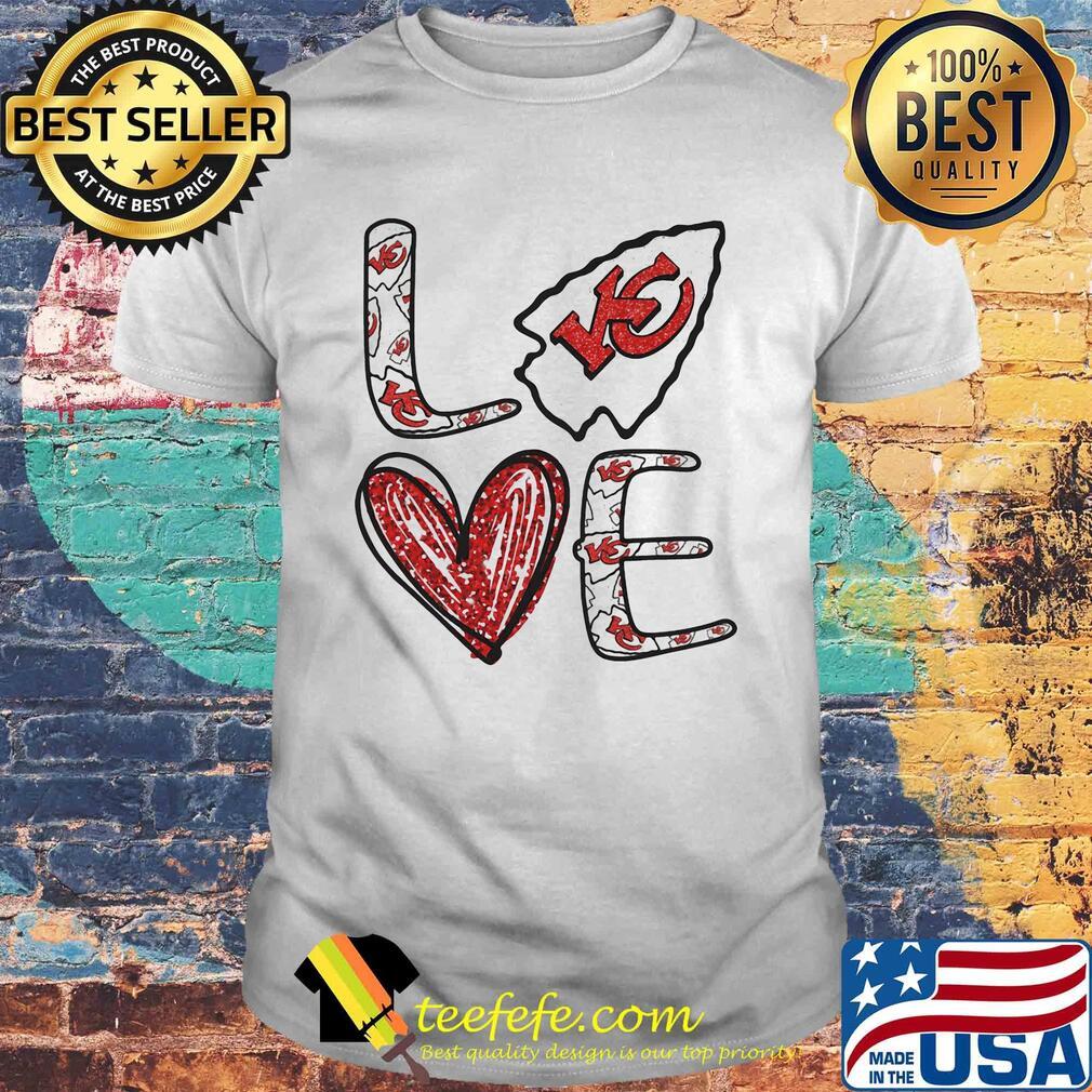 Love Kansas City Chiefs Football Logo Heart shirt